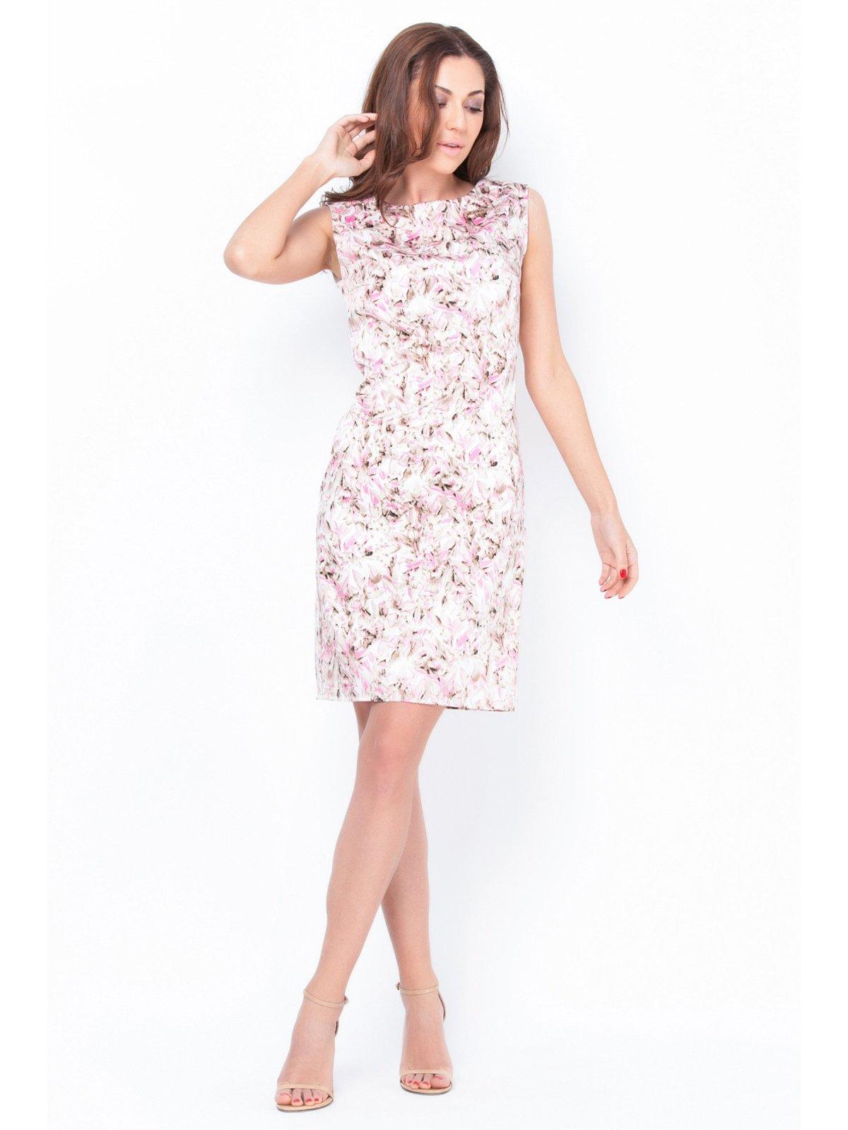 Платье бело-розовое в принт | 2559587 | фото 2