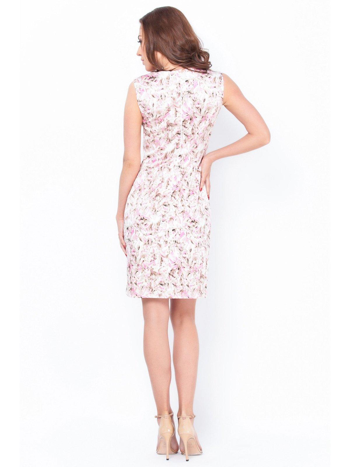 Платье бело-розовое в принт | 2559587 | фото 3