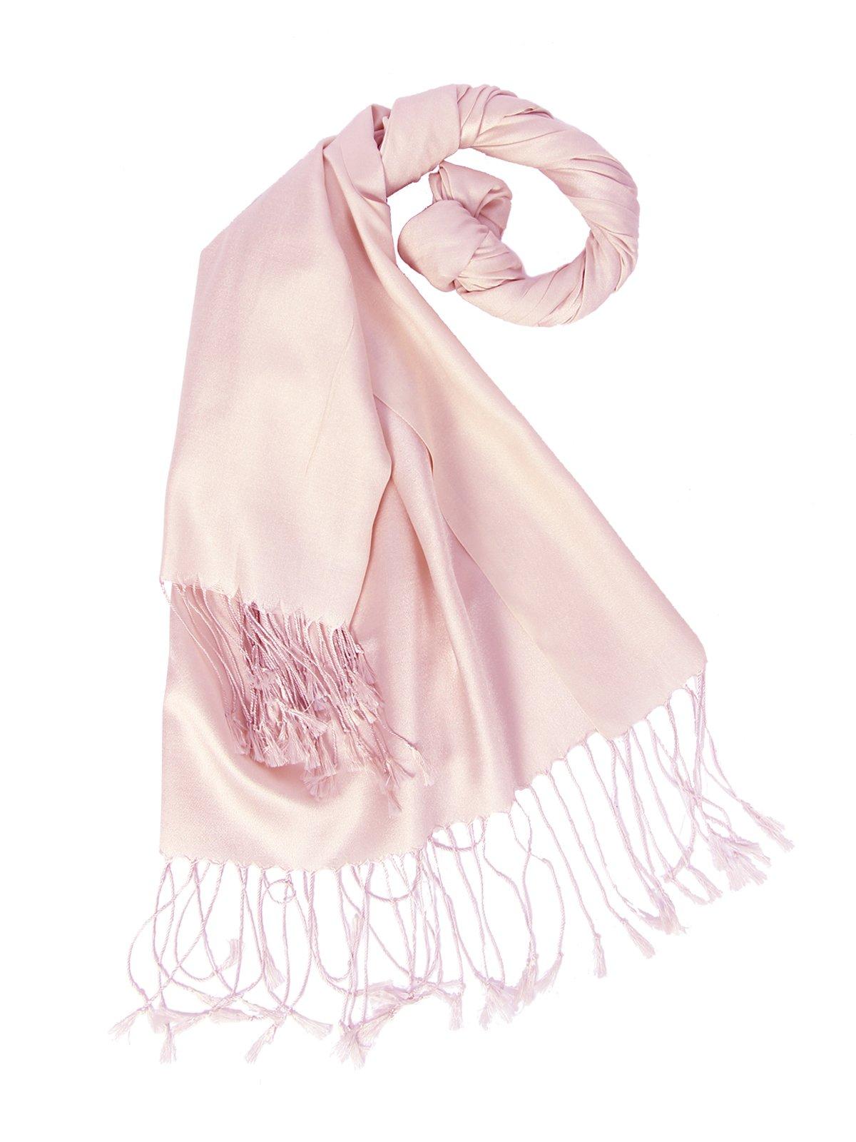 Шарфы тонкие женские бледно розового цвета фото