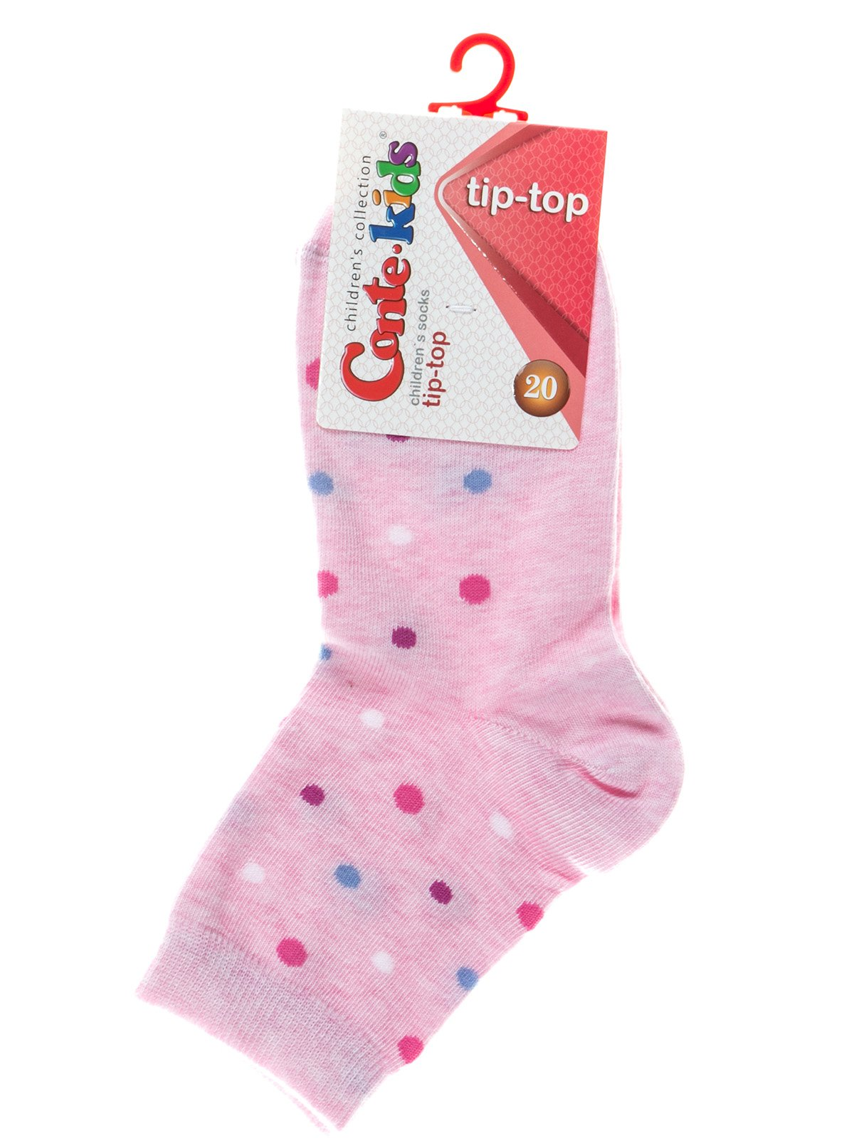 Шкарпетки рожеві в горох | 2626267