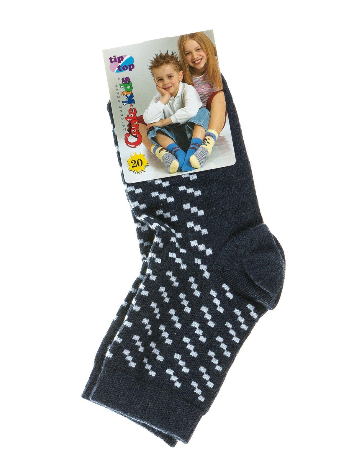 Шкарпетки темно-сині з малюнком | 2626370
