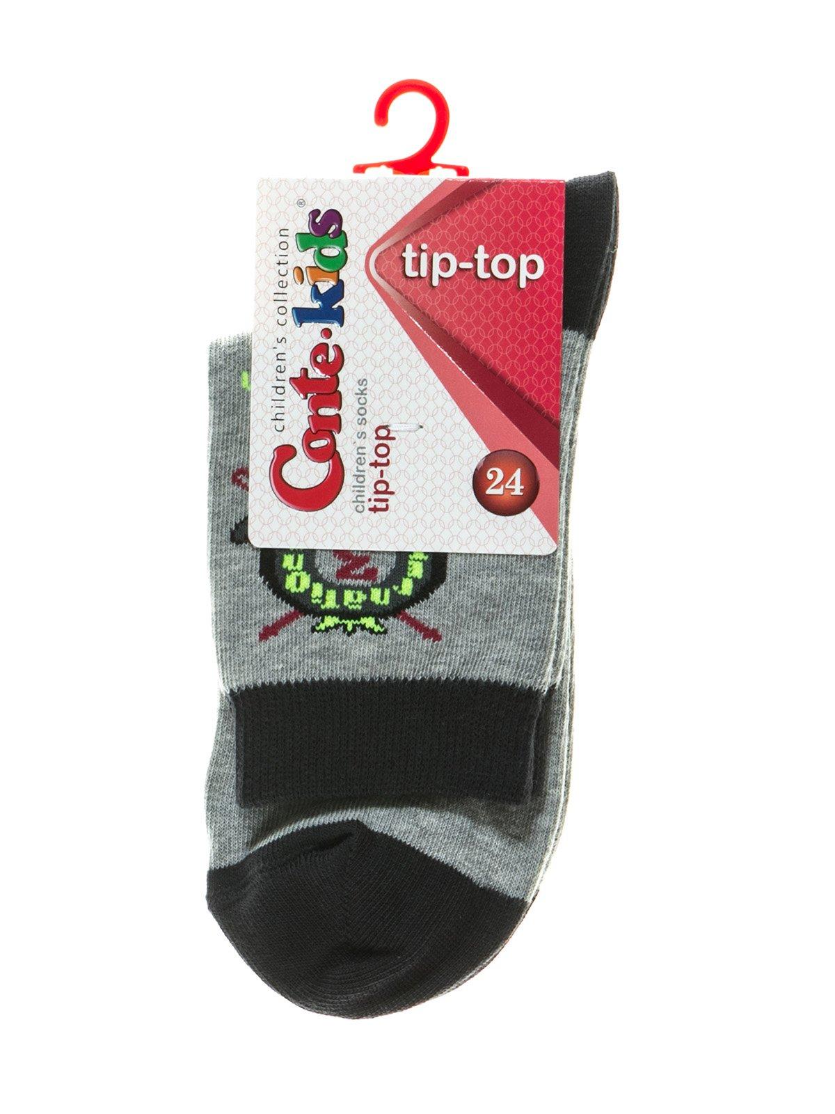 Шкарпетки сірі з малюнком | 2626367