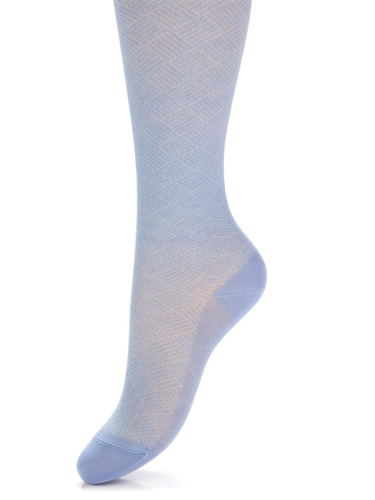 Колготки голубые в ромбы | 2626213
