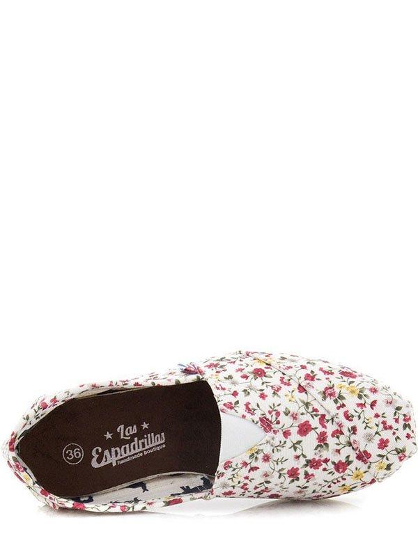 Эспадрильи белые в цветочный принт | 2573443 | фото 3