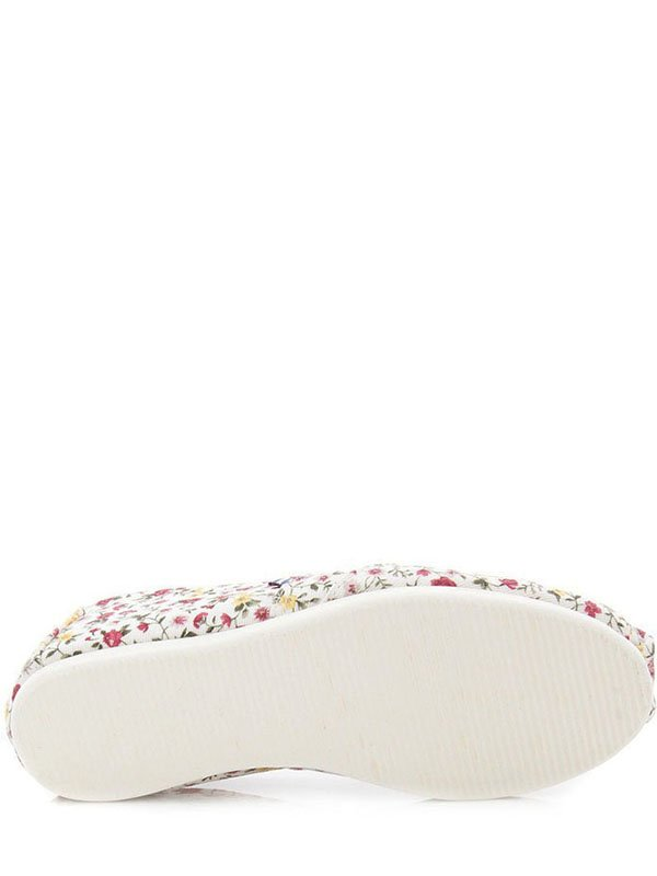 Эспадрильи белые в цветочный принт | 2573443 | фото 4