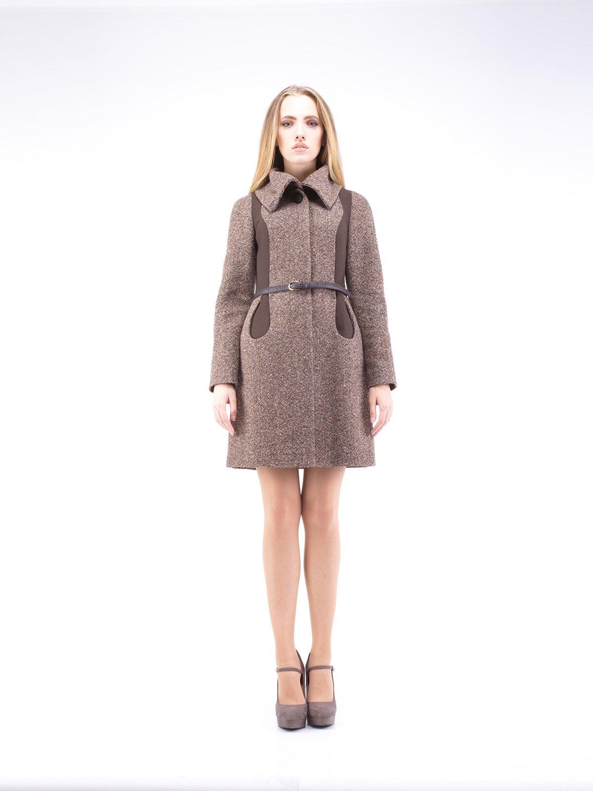 Пальто коричневе | 2335730
