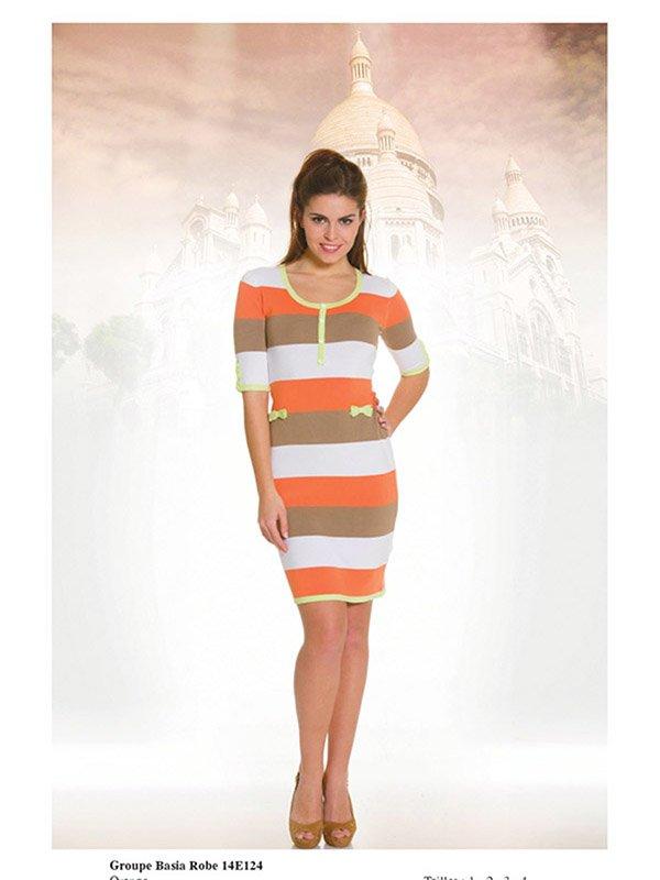 Платье в полоску | 2464454