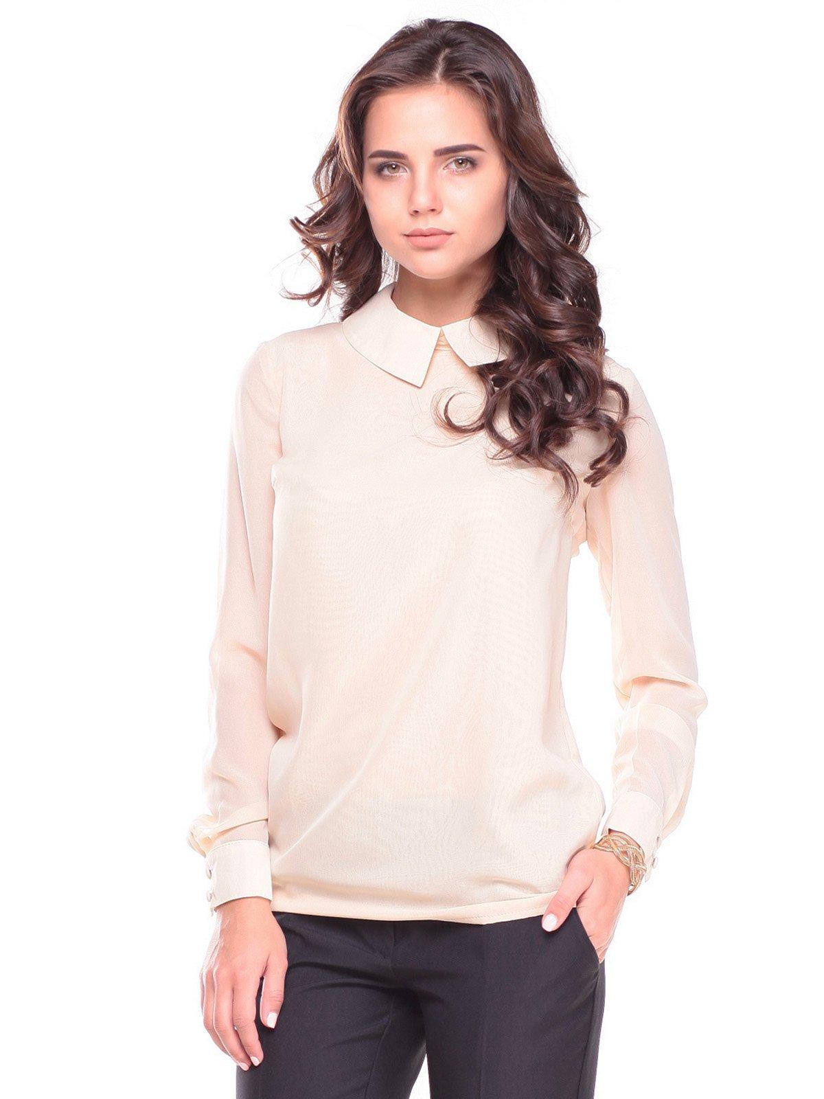 Блуза бежево-розовая | 2601654
