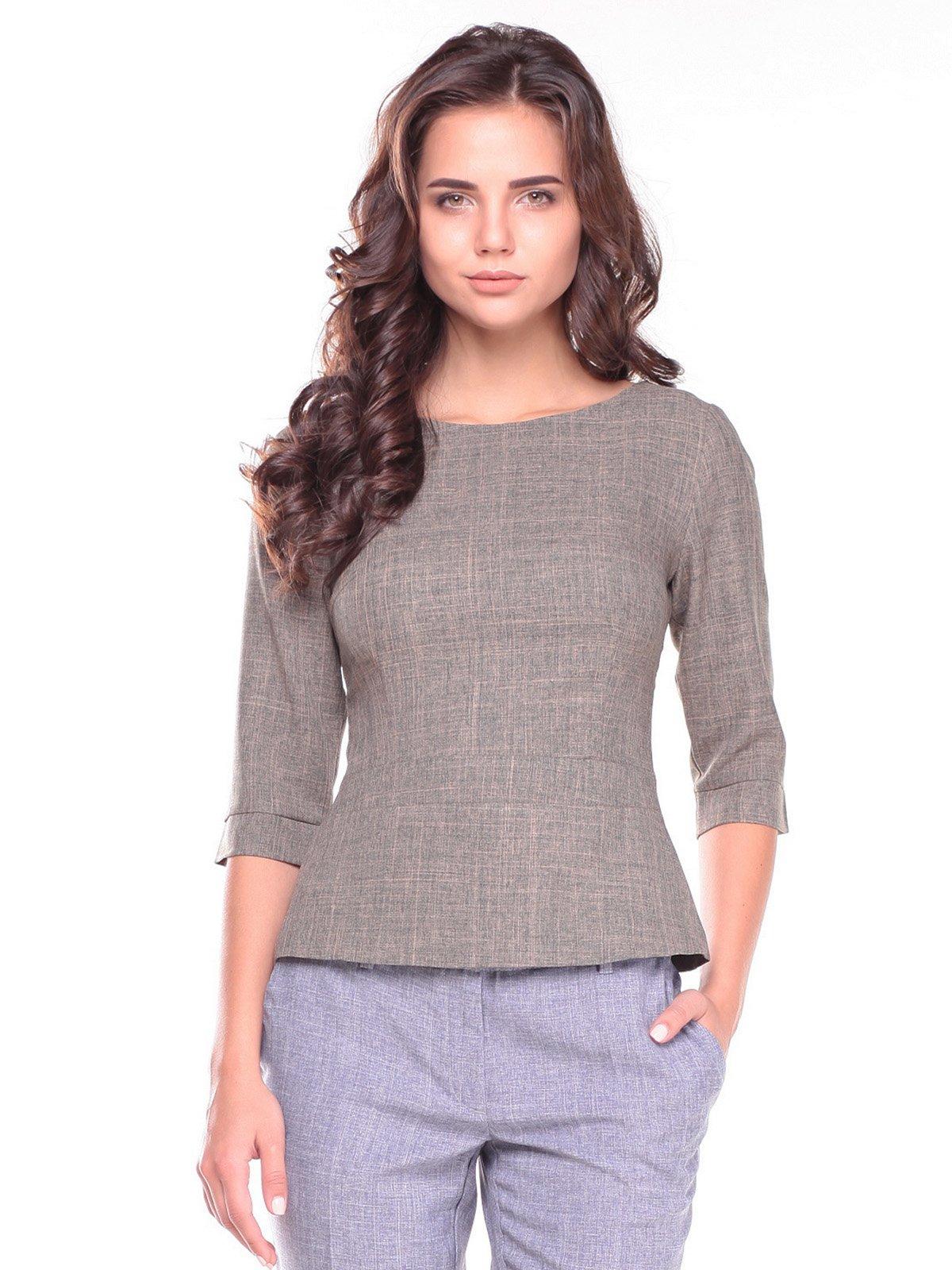 Блуза кольору хакі | 2601663