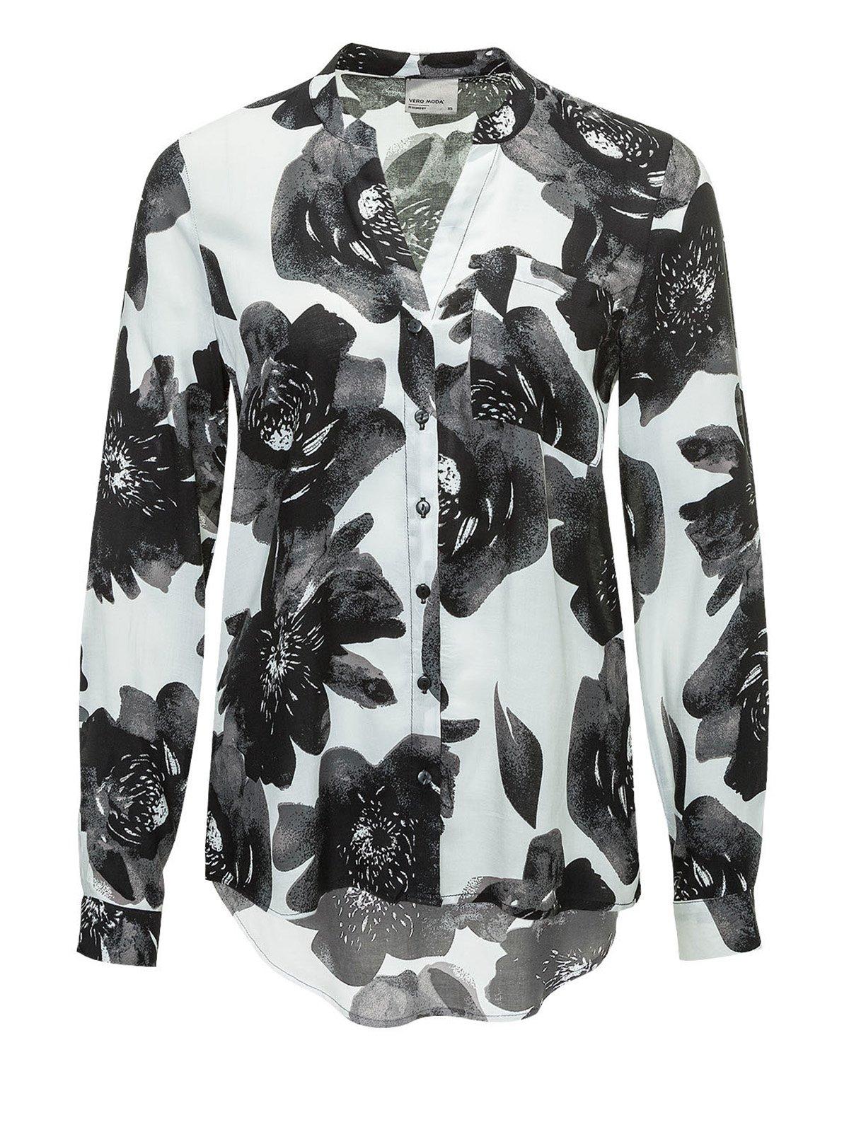 Блуза белая в цветочный принт | 2574945
