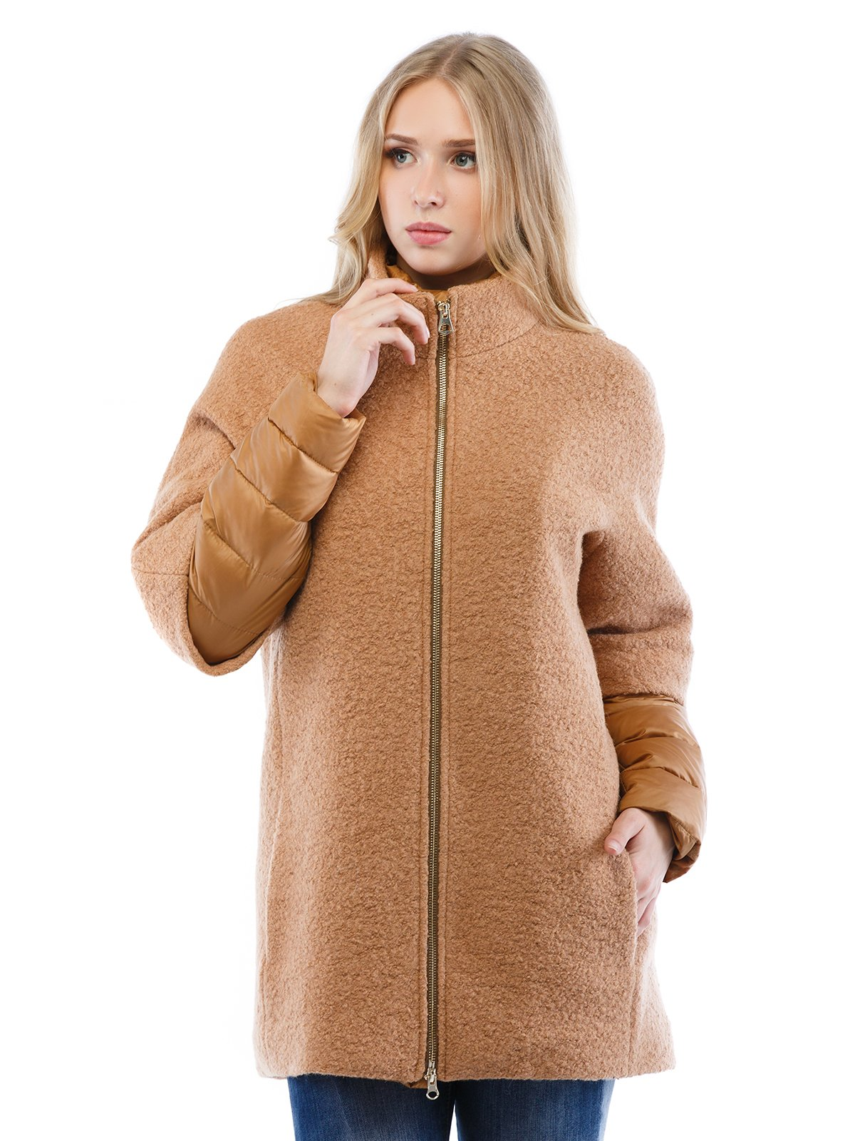 Пальто коричневе | 2618063
