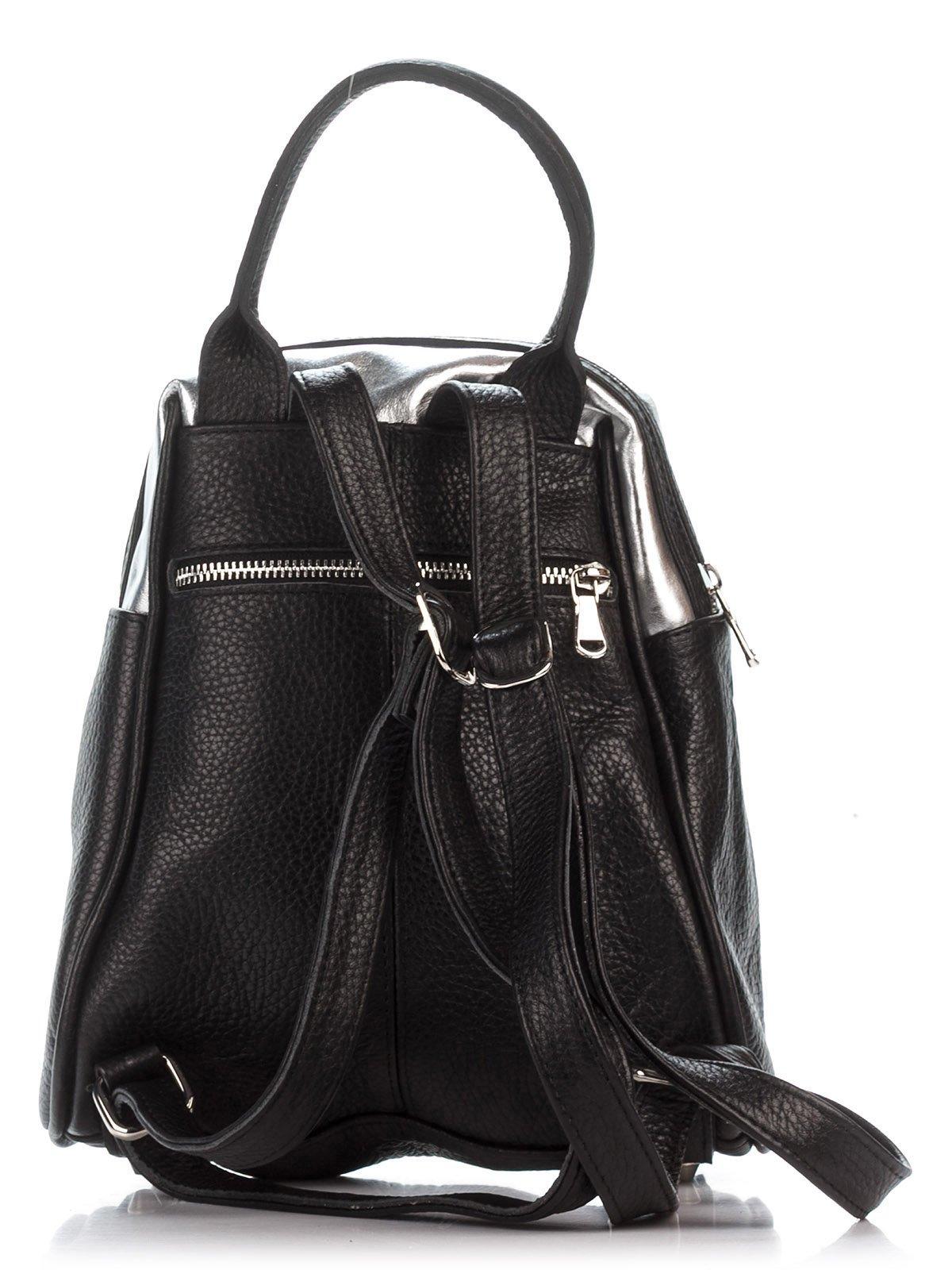 Рюкзак черно-серебристый | 2612082 | фото 2