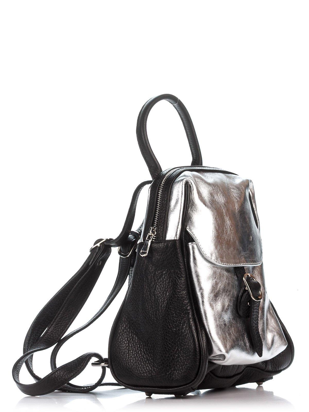 Рюкзак черно-серебристый | 2612082 | фото 3