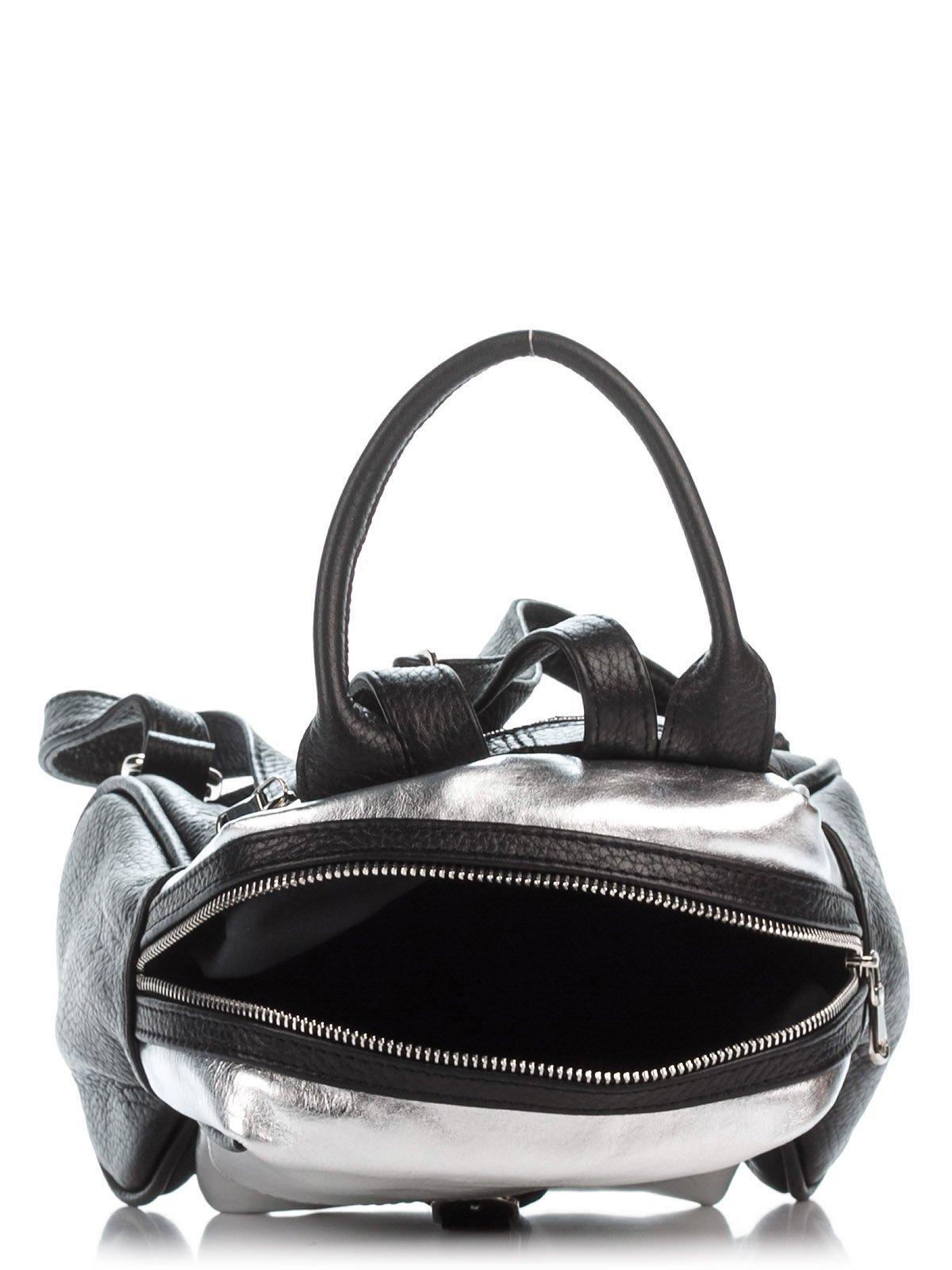 Рюкзак черно-серебристый | 2612082 | фото 4