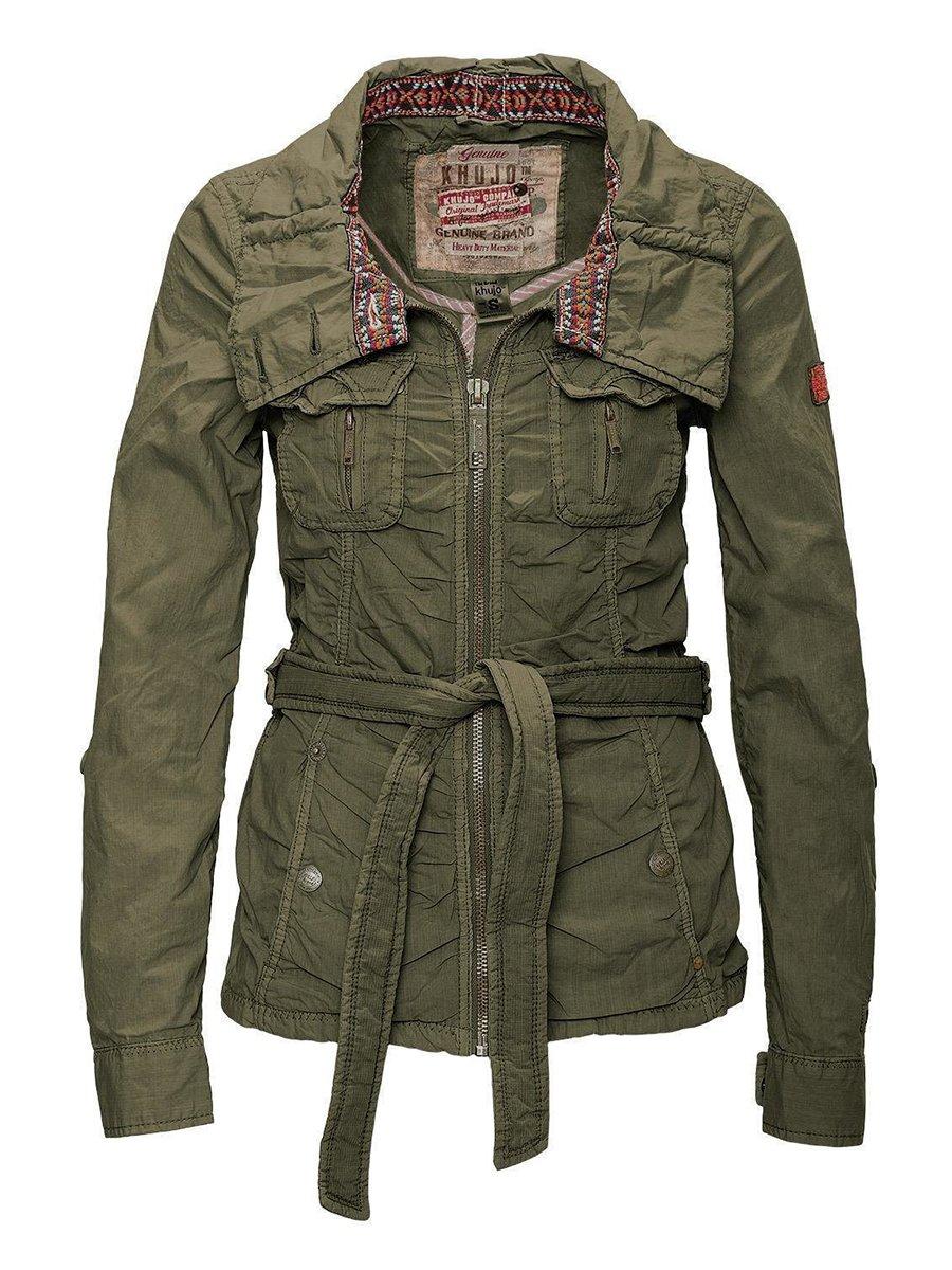 Куртка оливкового цвета | 2269565