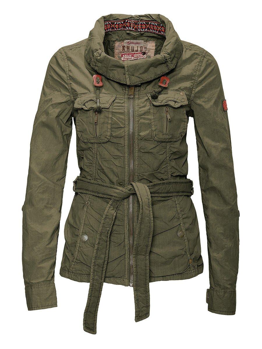 Куртка оливкового цвета | 2269565 | фото 2