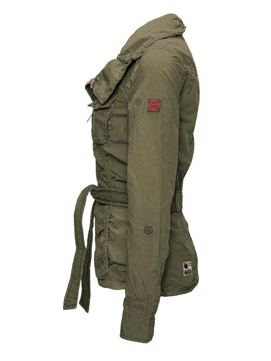 Куртка оливкового цвета | 2269565 | фото 3