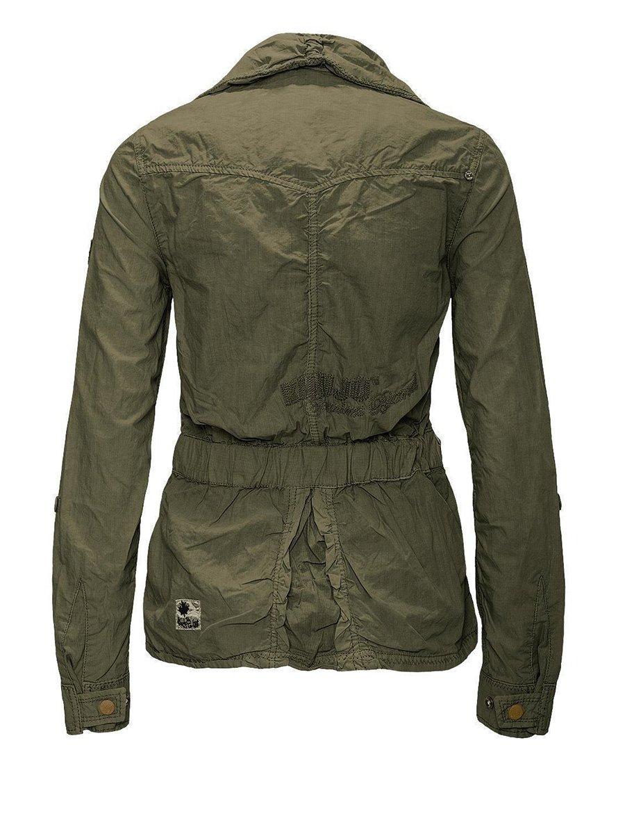 Куртка оливкового цвета | 2269565 | фото 4