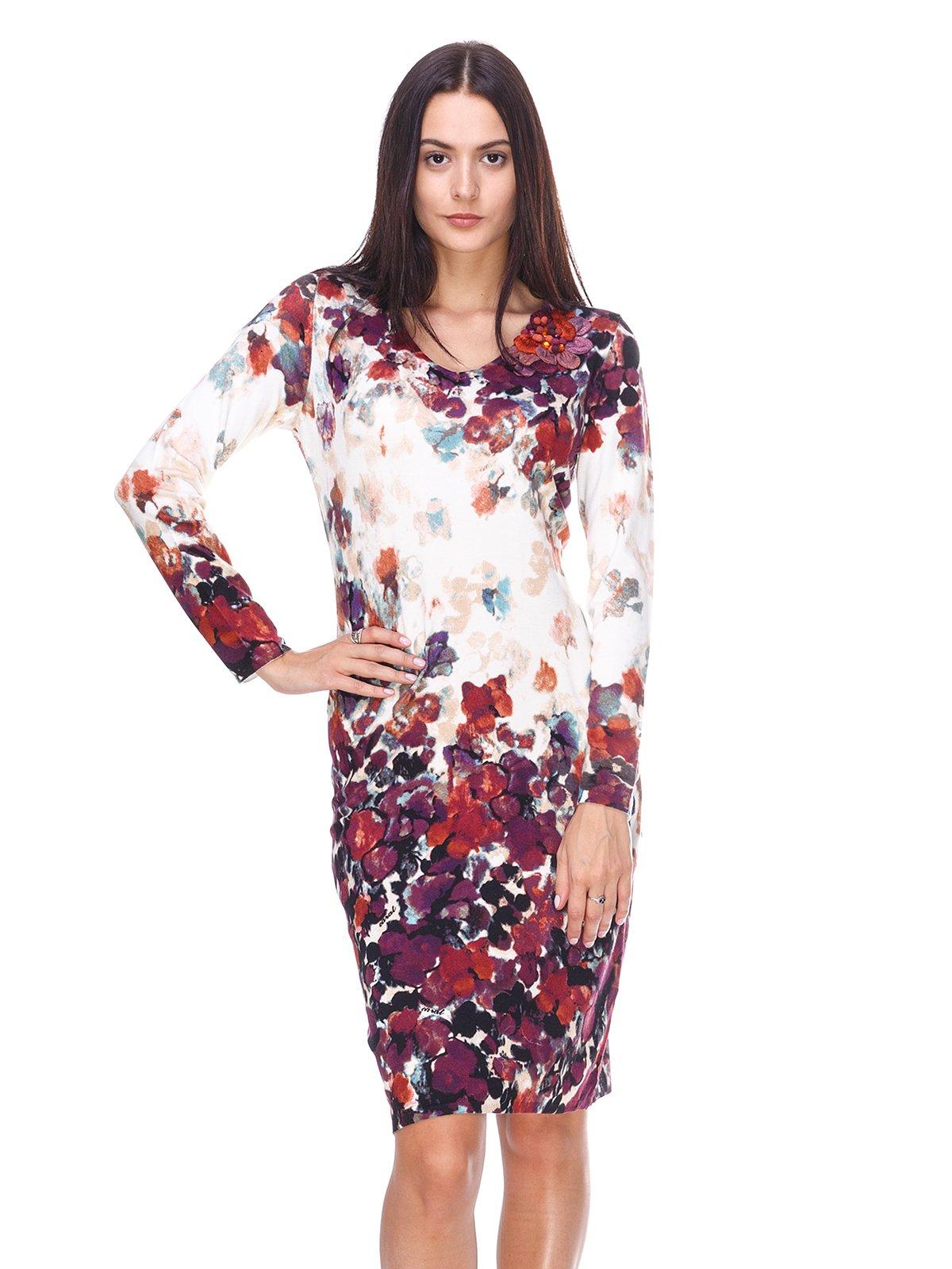 Сукня біла в квітковий принт | 2619164