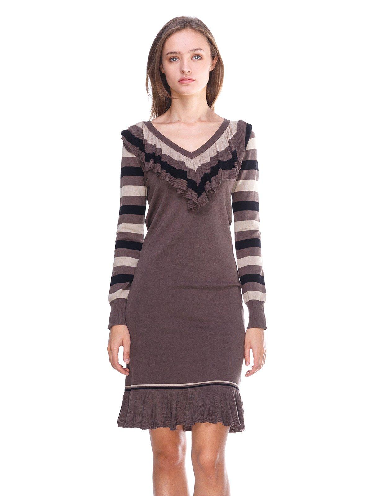 Сукня коричнева в смужку   2619402