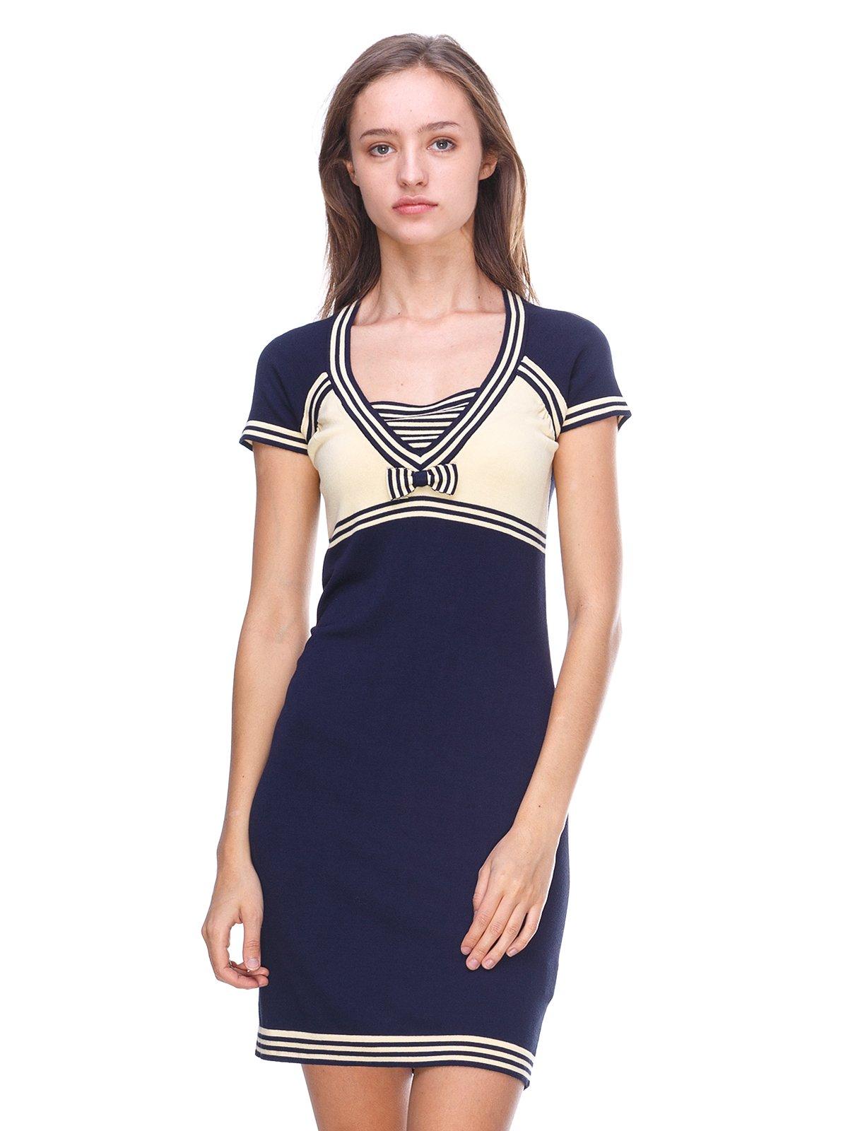Платье желто-синее | 2619417