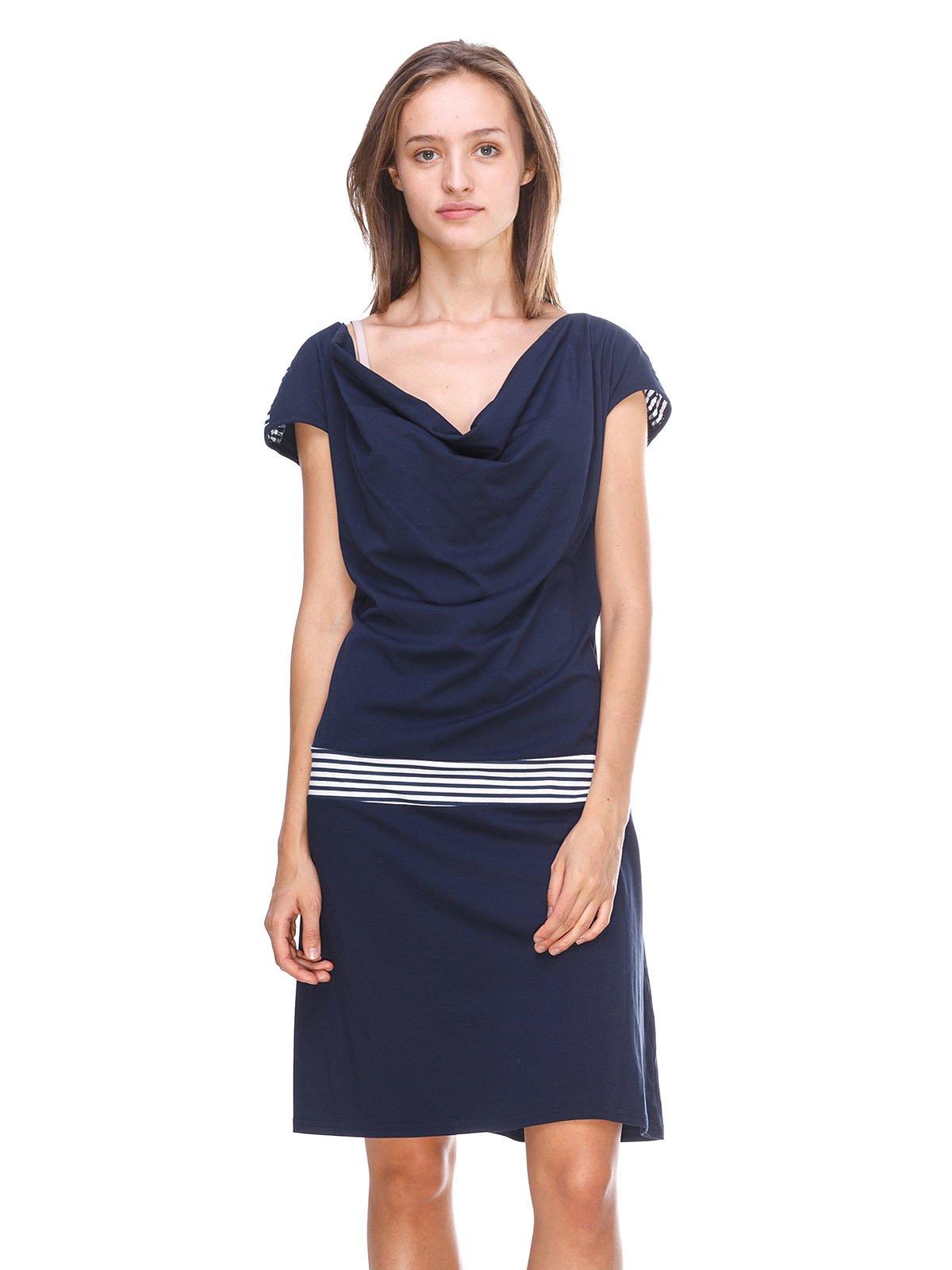 Сукня темно-синя з смужками | 2619379