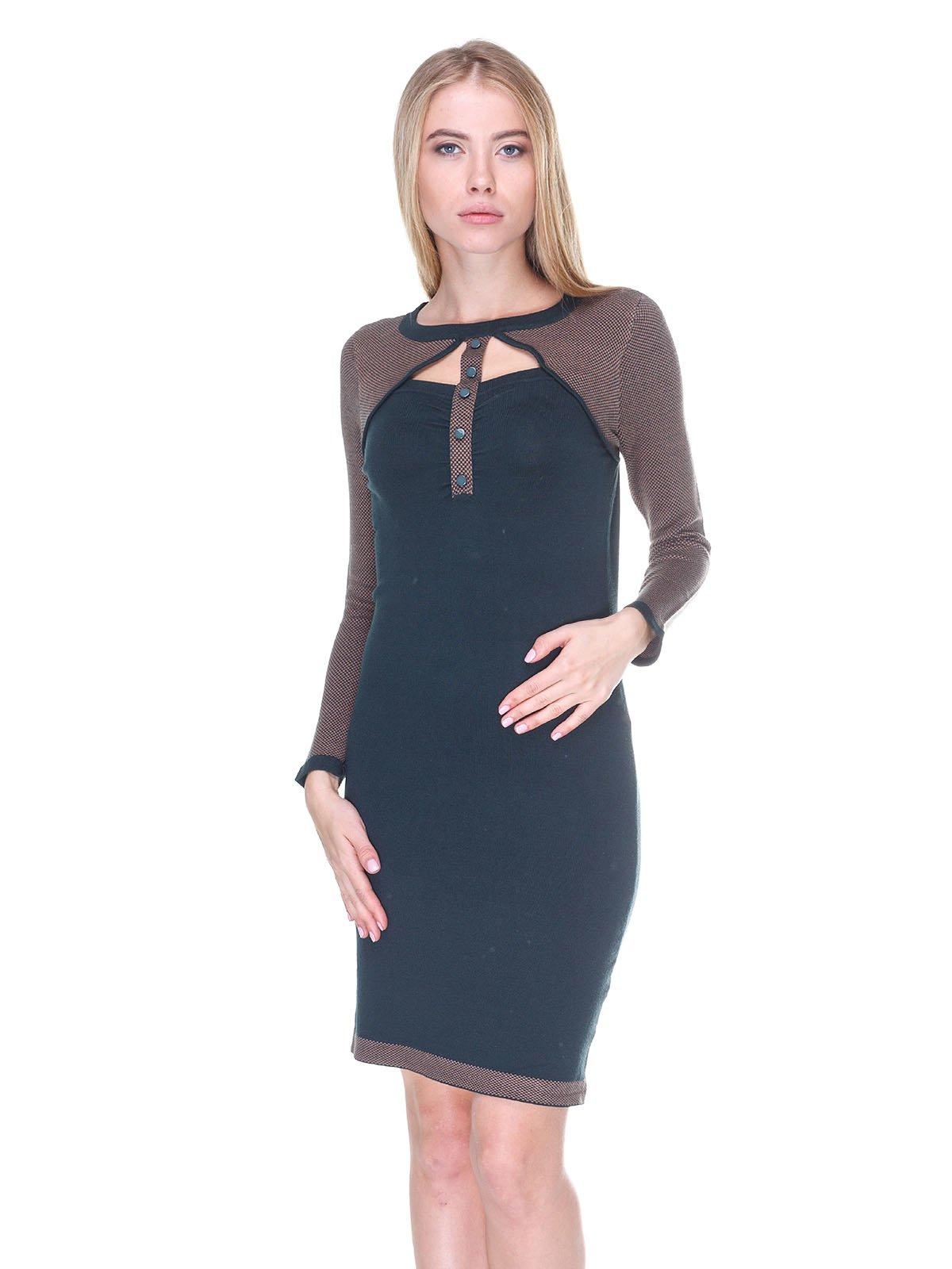 Платье коричнево-зеленое | 2635311