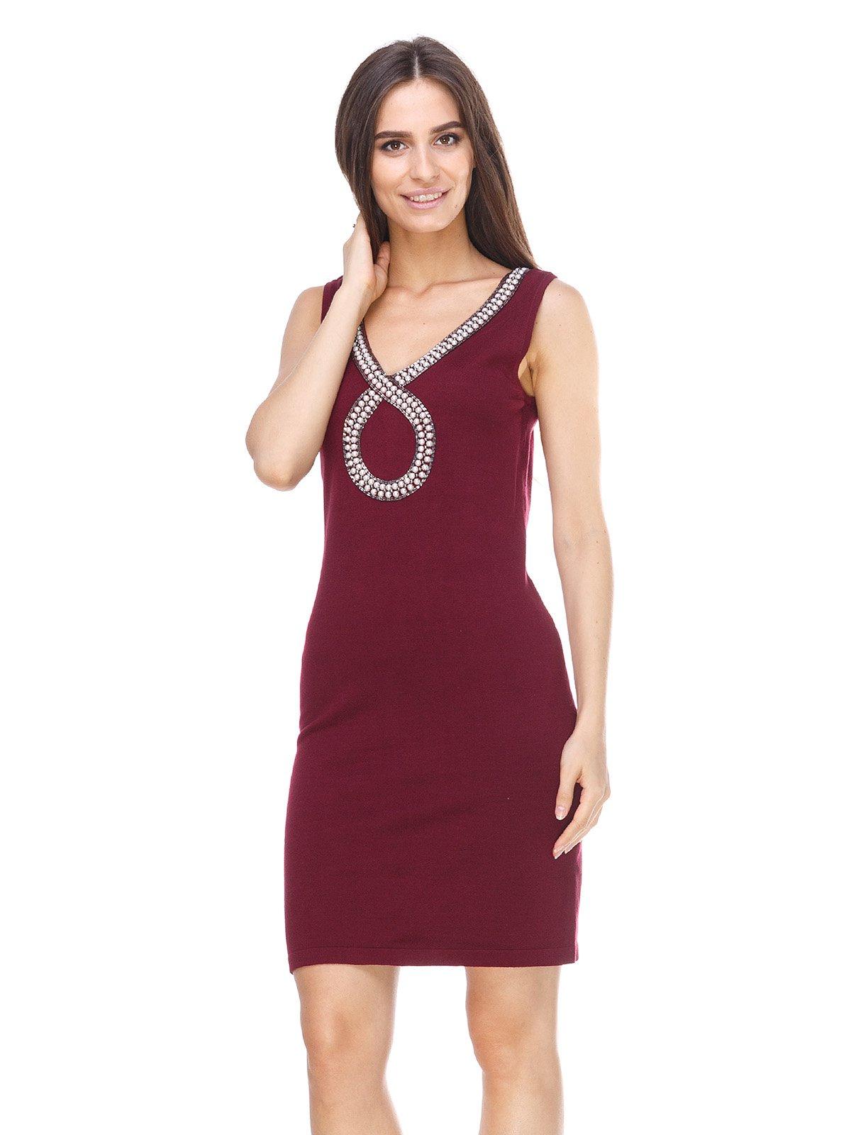Сукня бордова | 2619186