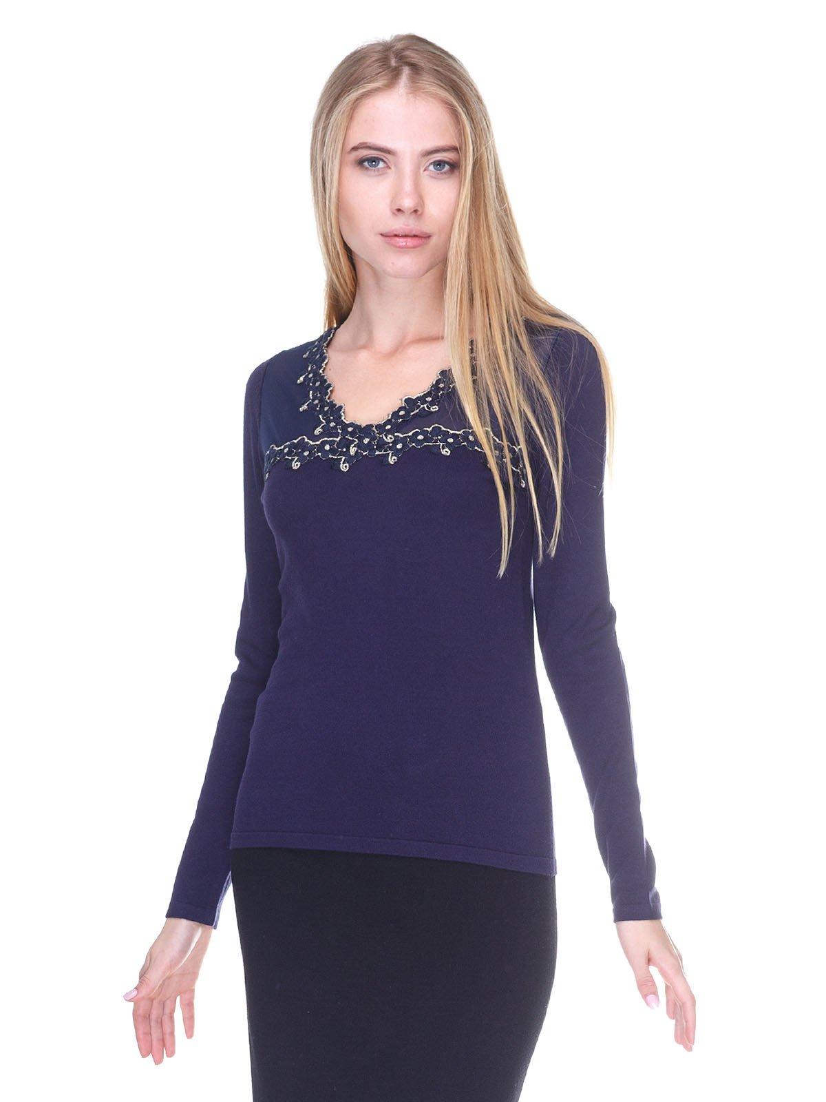 Пуловер синий | 2635293