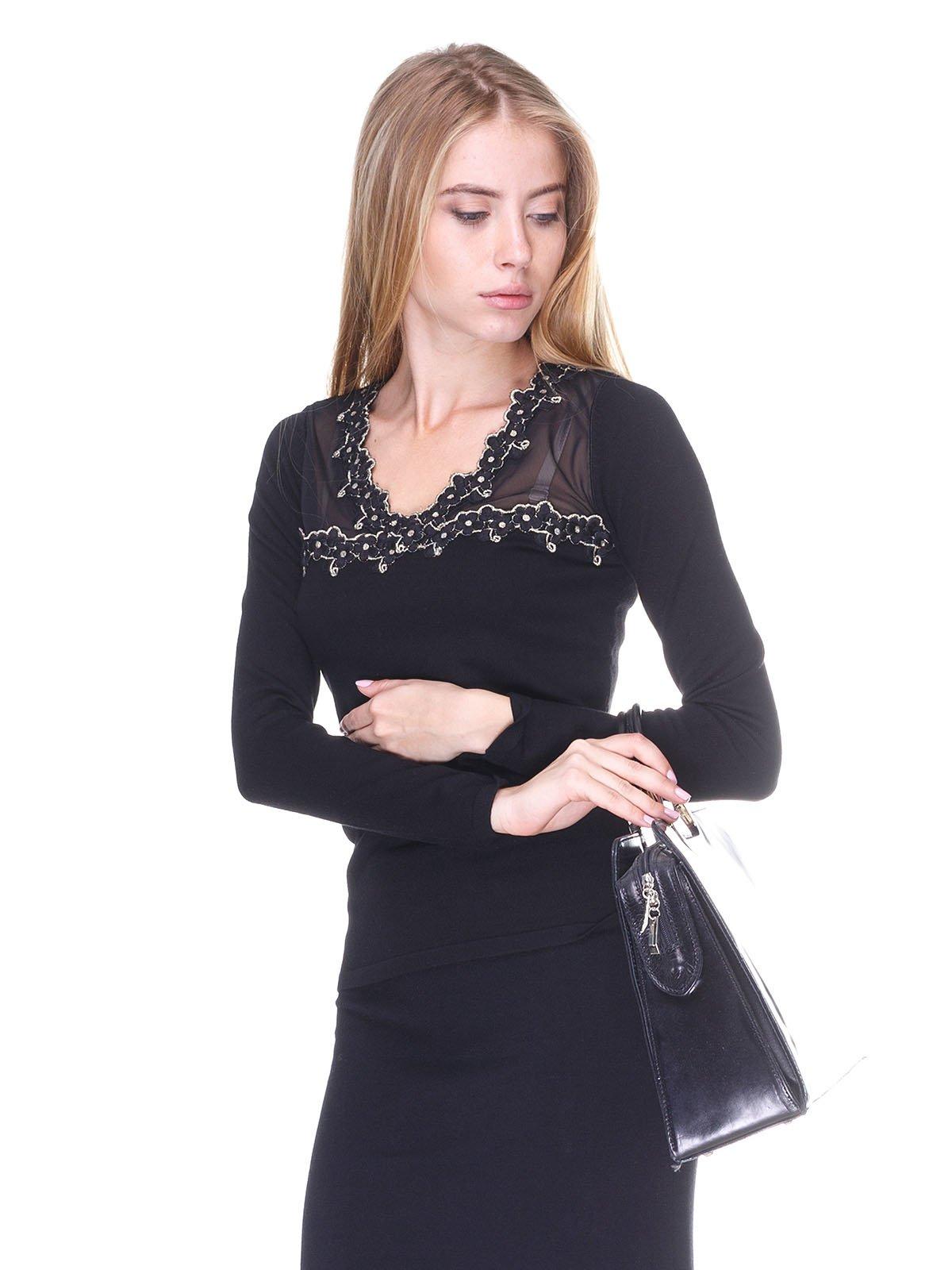 Пуловер чорний | 2635294