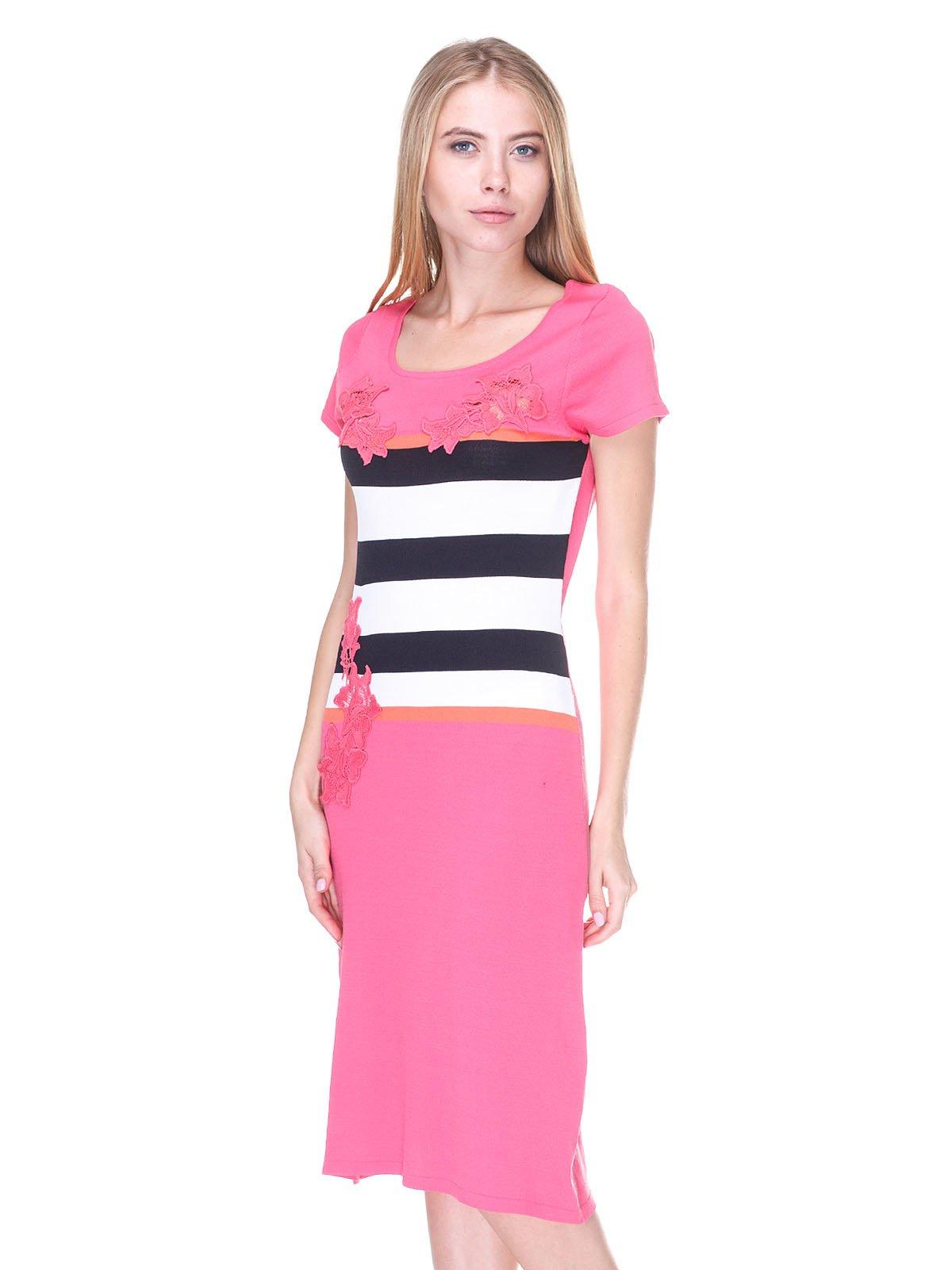 Сукня рожева з контрастними вставками | 2302542