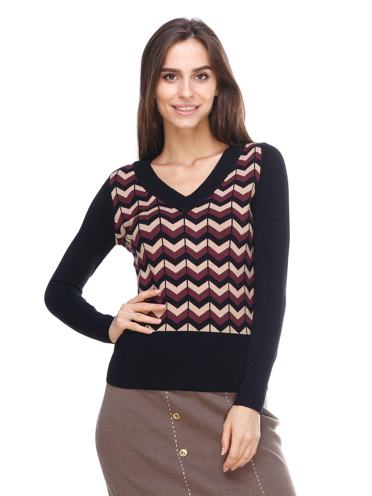 Пуловер в зигзагоподібну смужку | 2635301