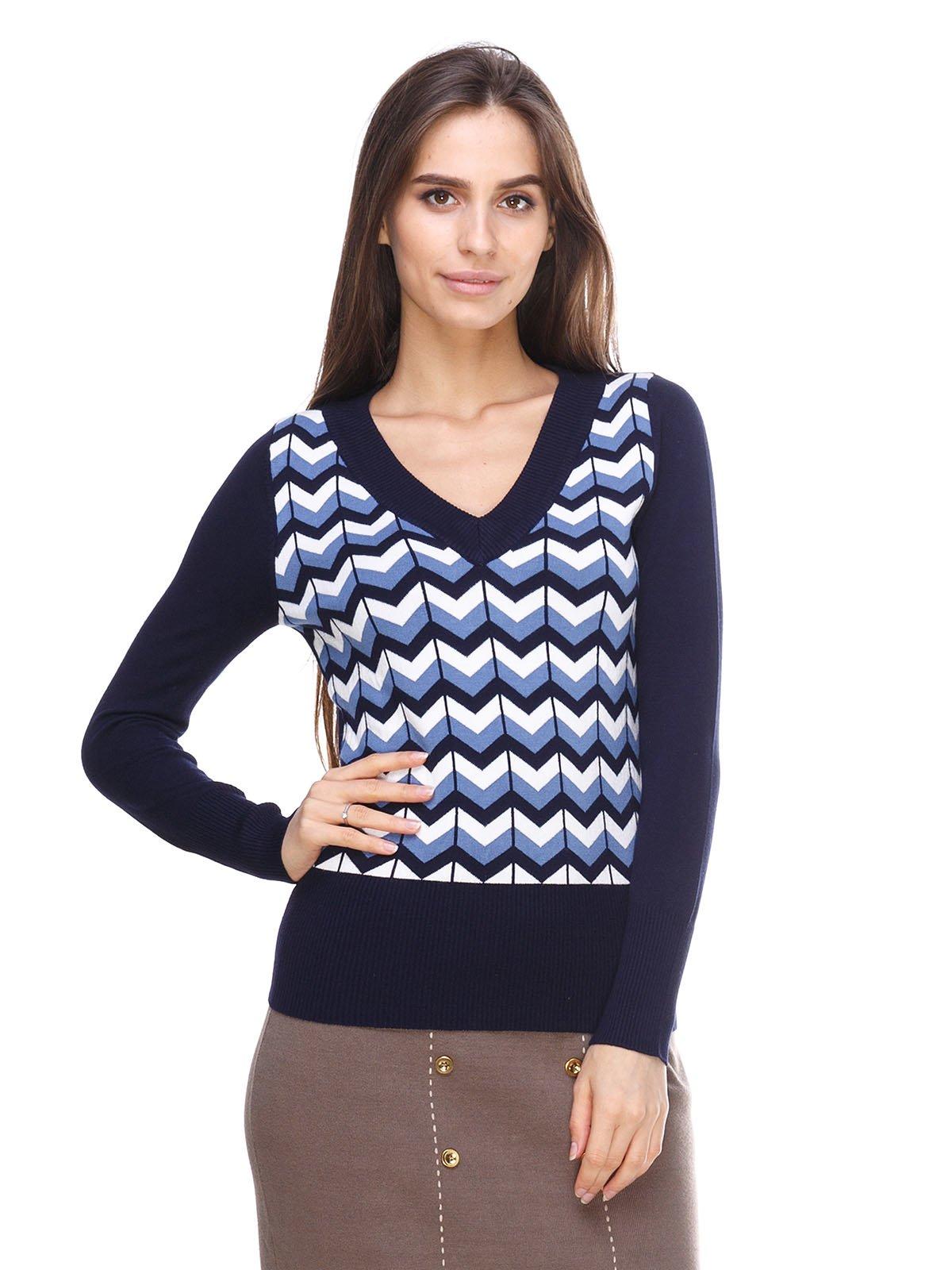 Пуловер в зигзагоподібну смужку   2635300