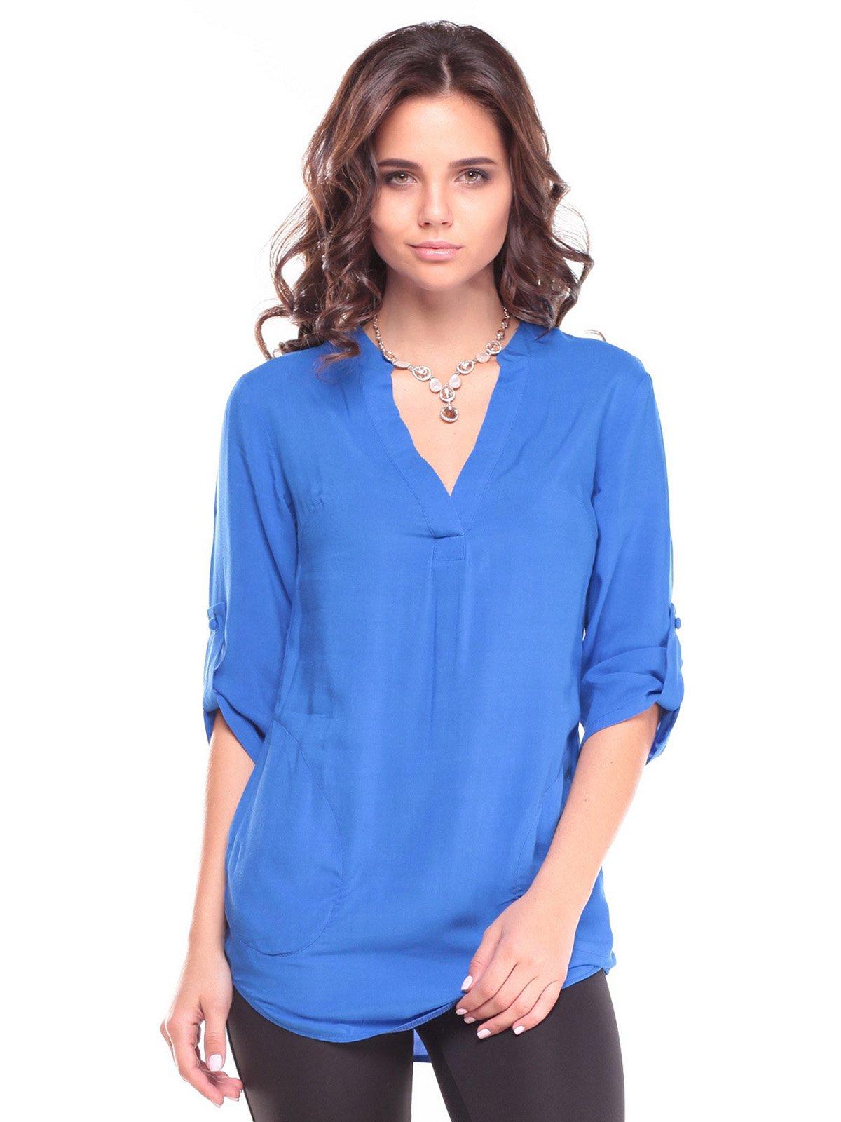 Блуза кольору електрик | 2646856