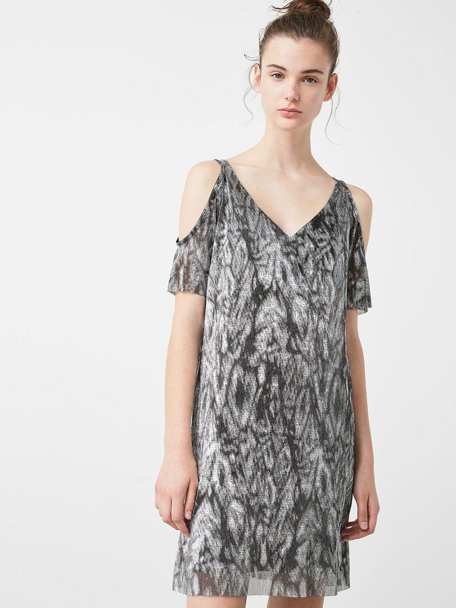 Сукня сіра в абстрактний принт   2646724