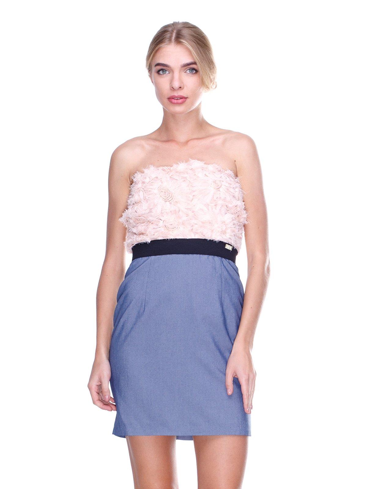 Платье-бюстье двухцветное | 2638578