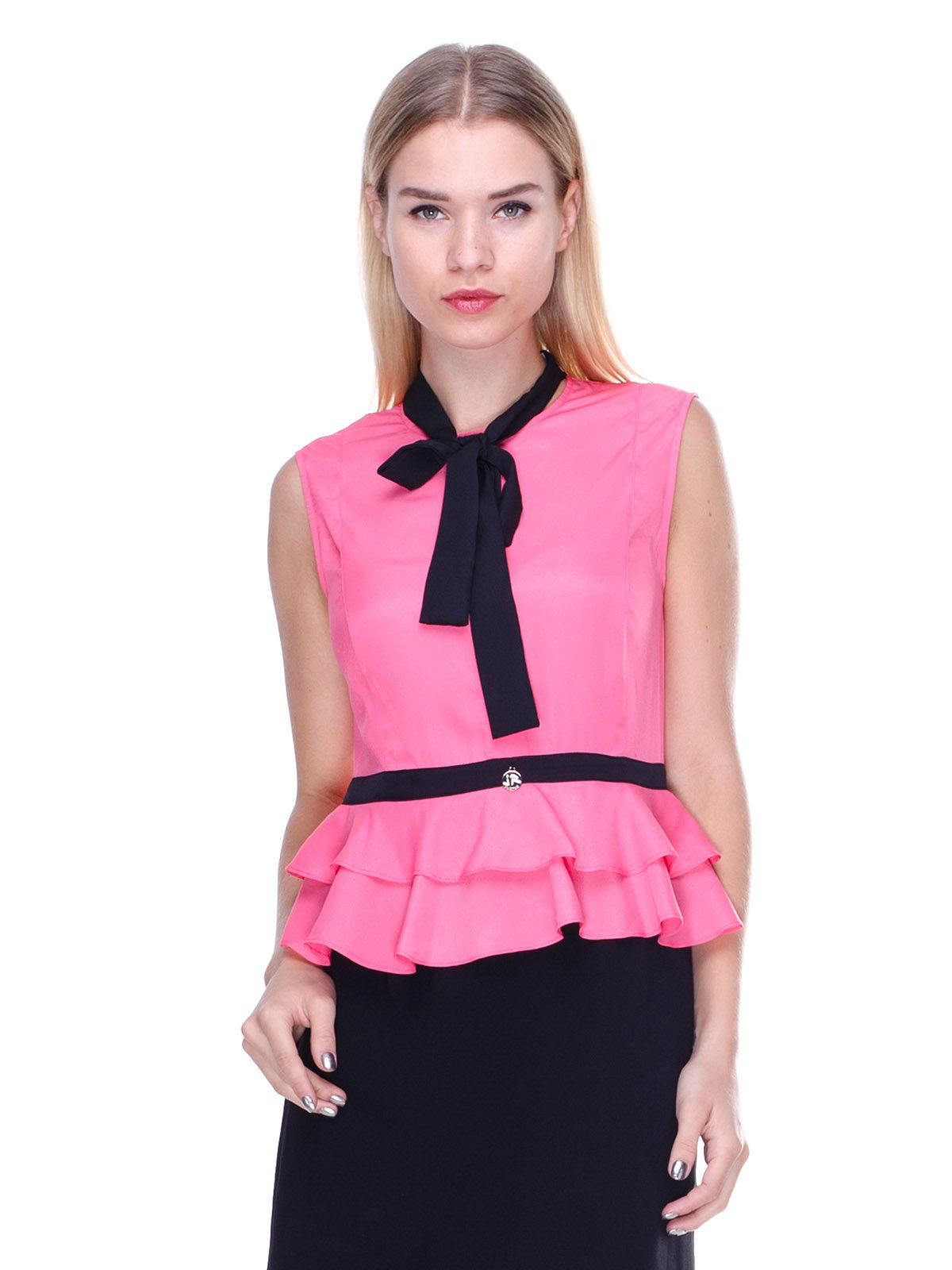 Платье кораллово-черное | 2638552