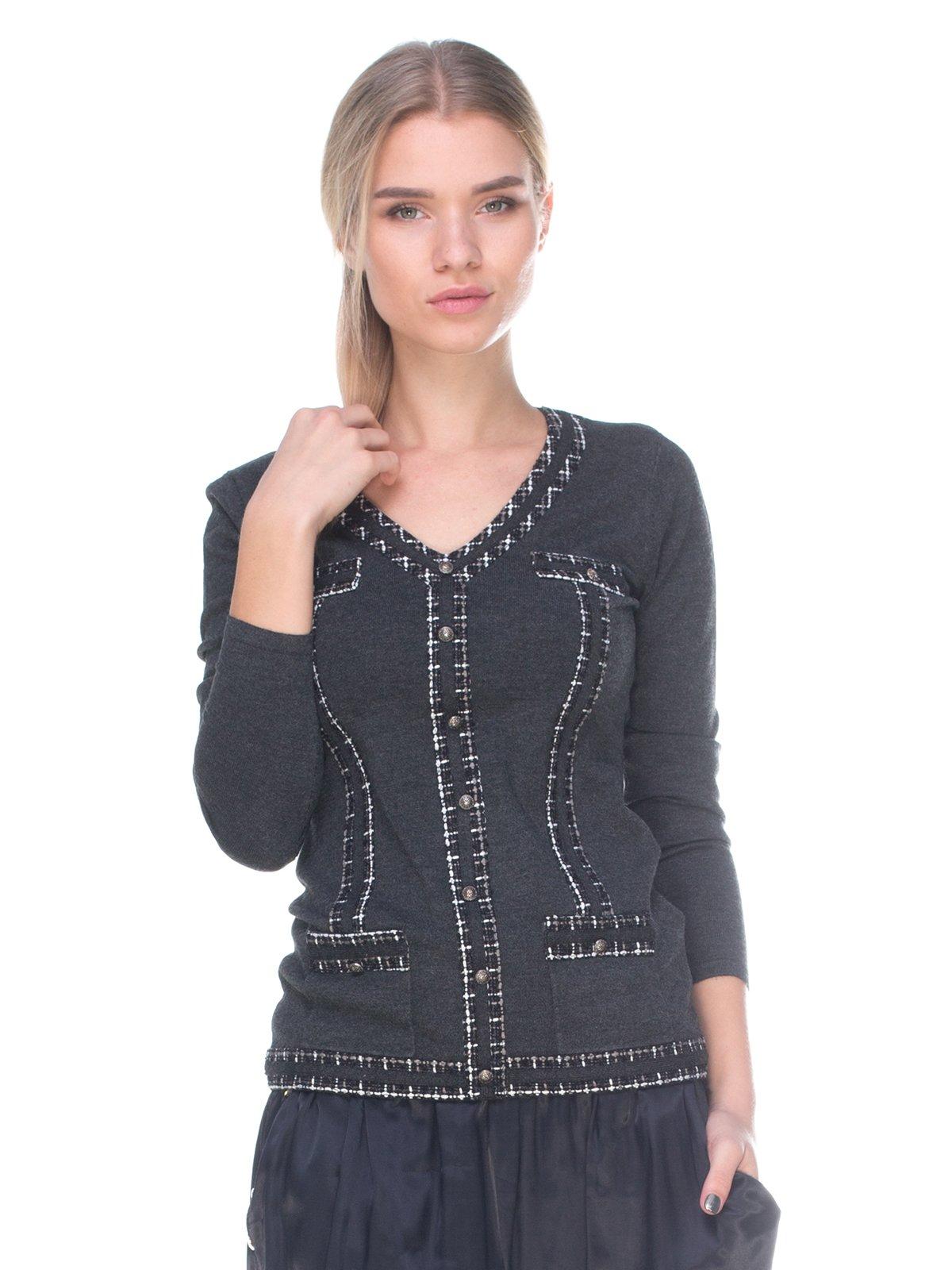 Пуловер темно-серый | 2627827