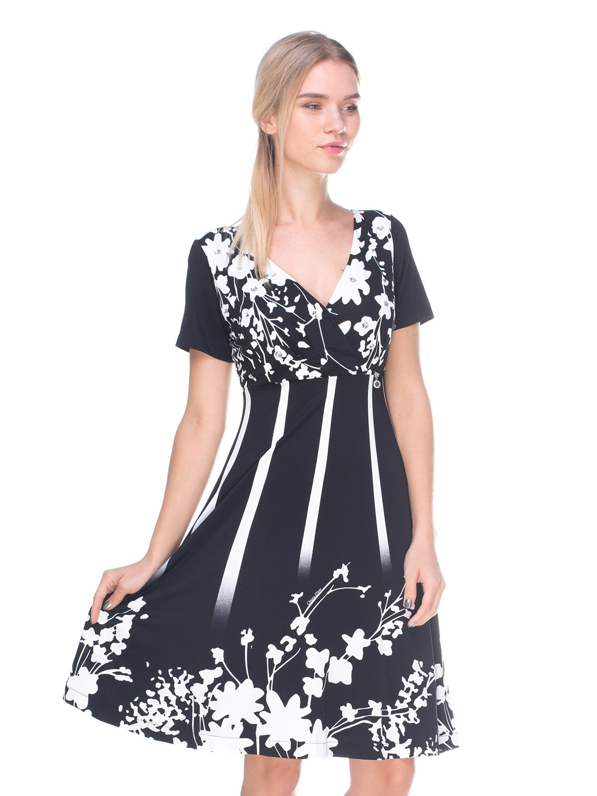 Платье черное в принт | 2590968