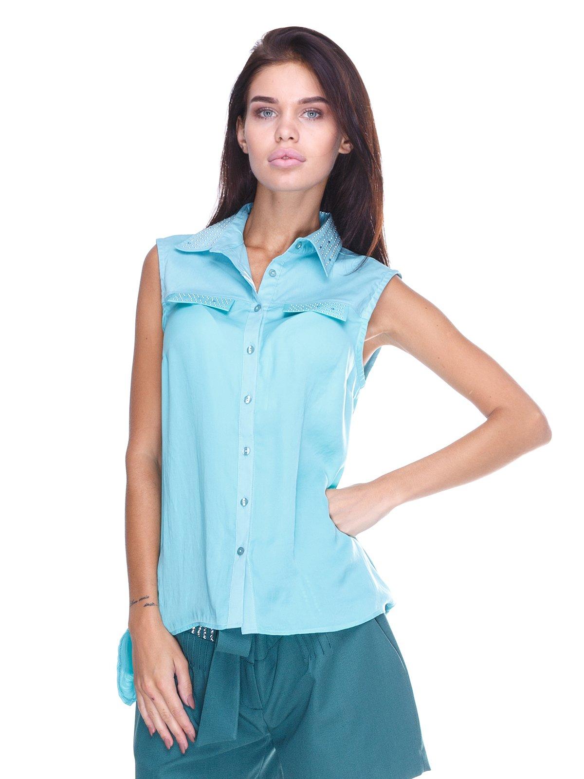 Блуза бирюзовая   2645160