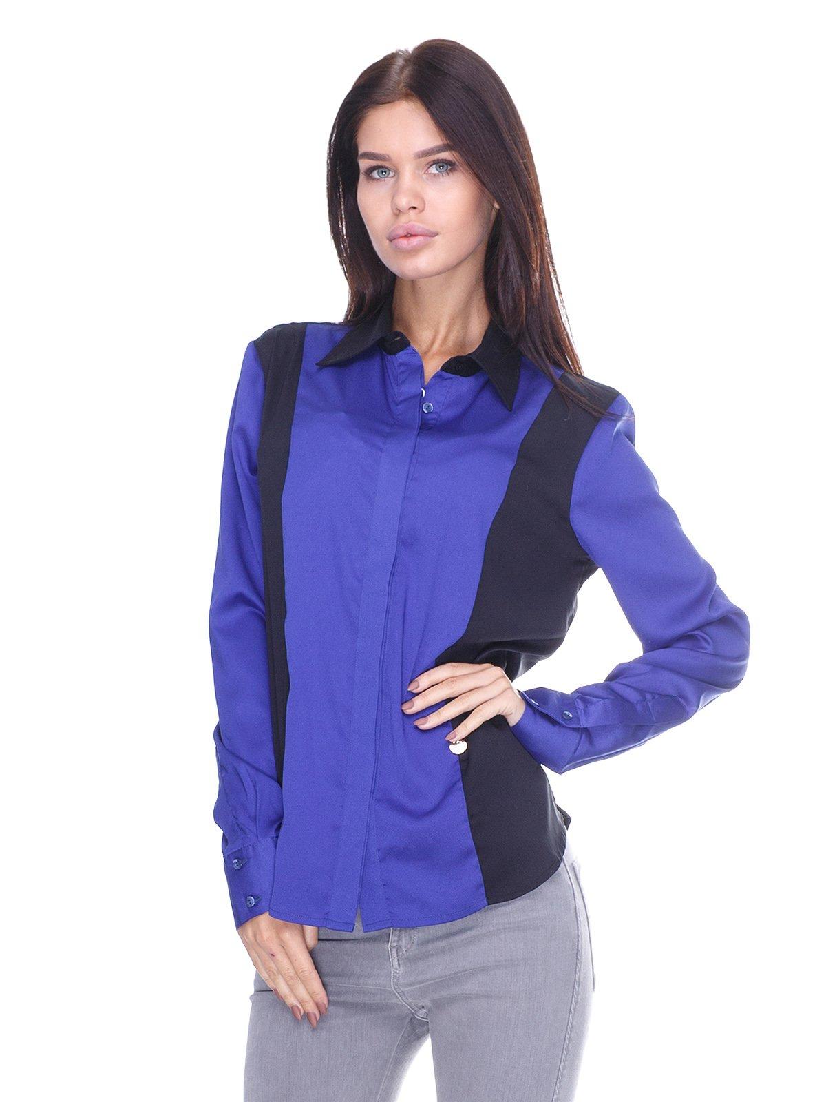 Блуза сине-черная | 2638701