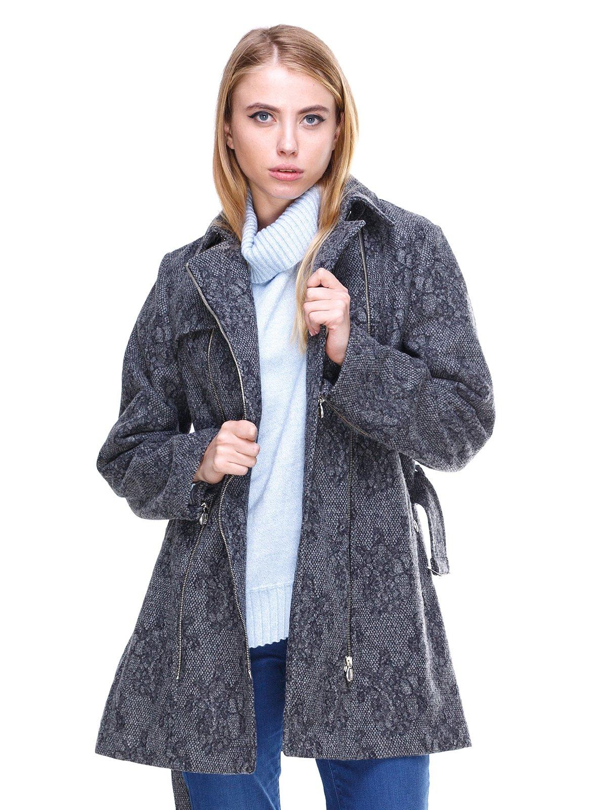 Пальто серое с рисунком | 2666410