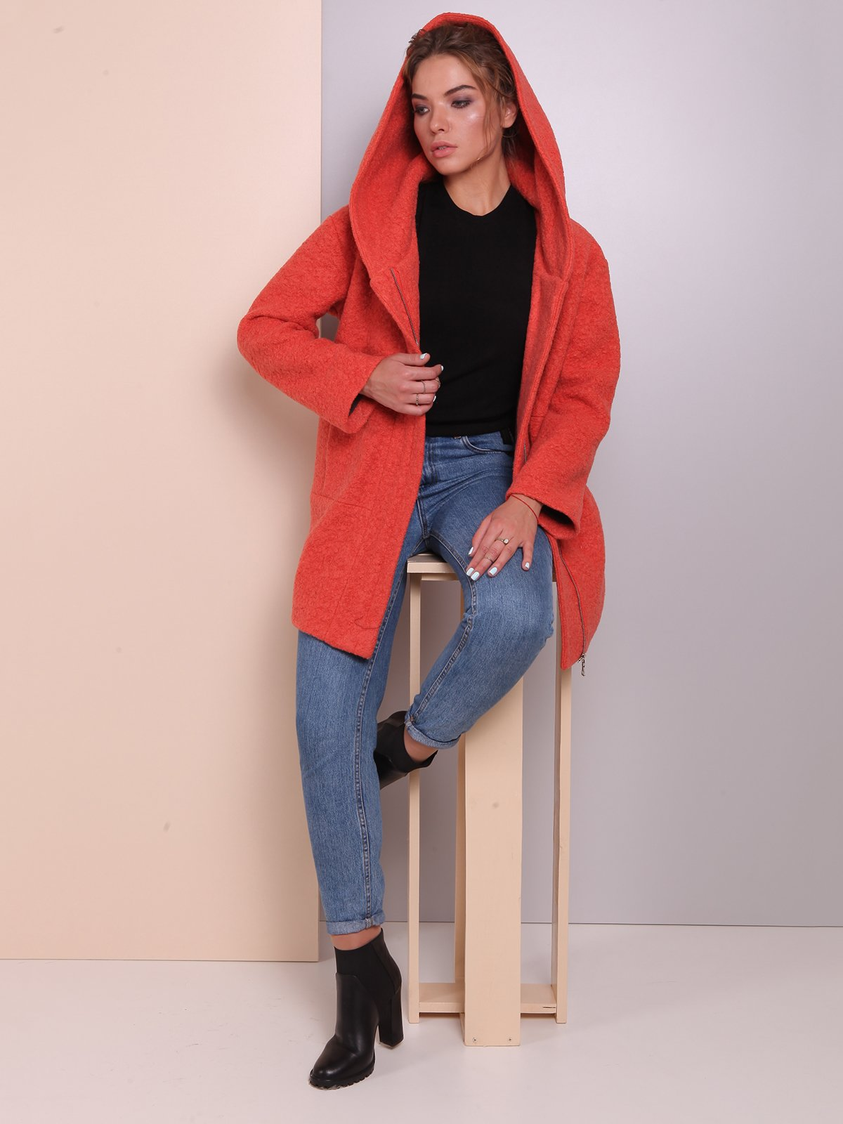 Пальто теракотового кольору | 2618061