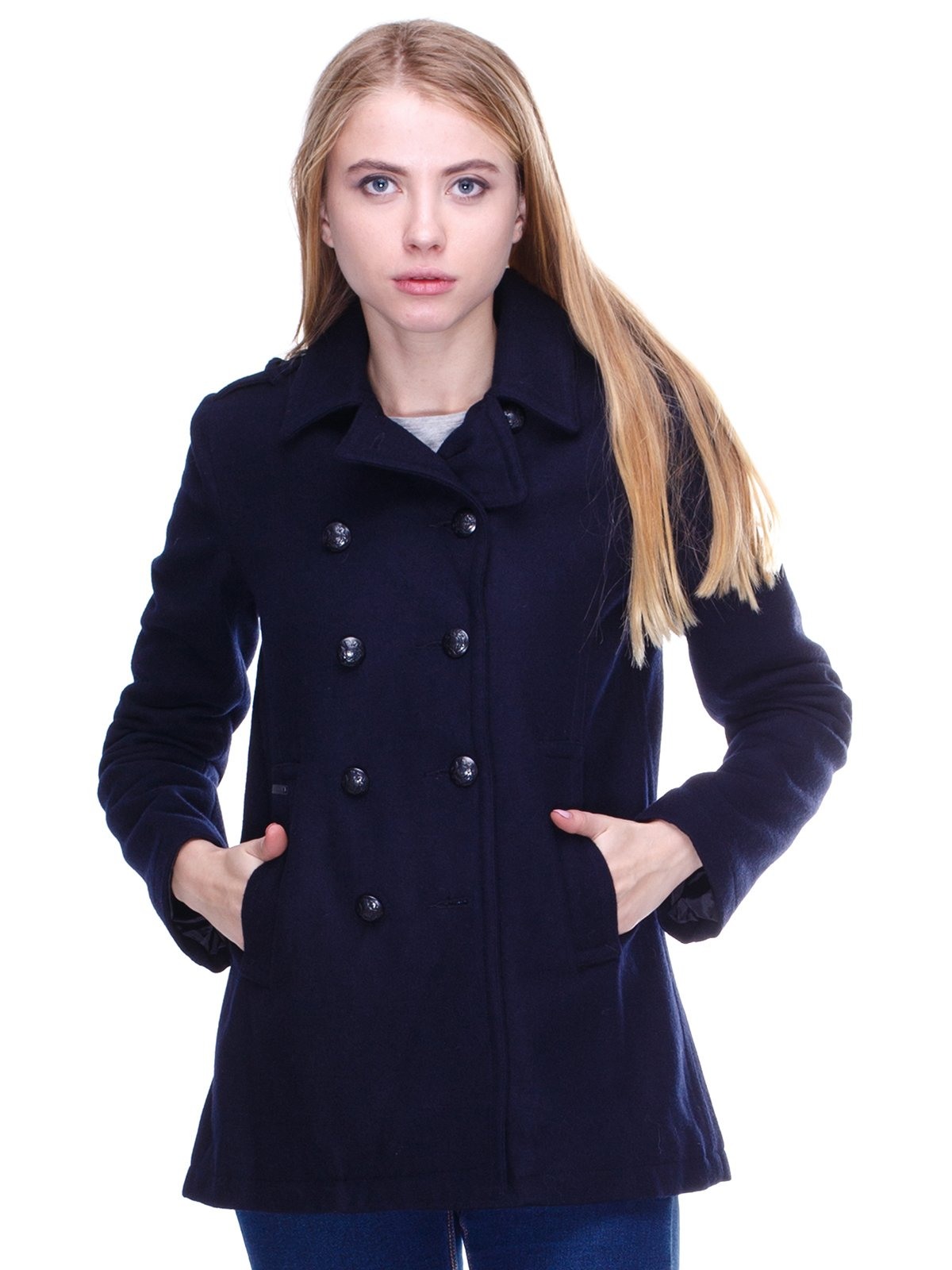 Пальто темно-синее | 2658590