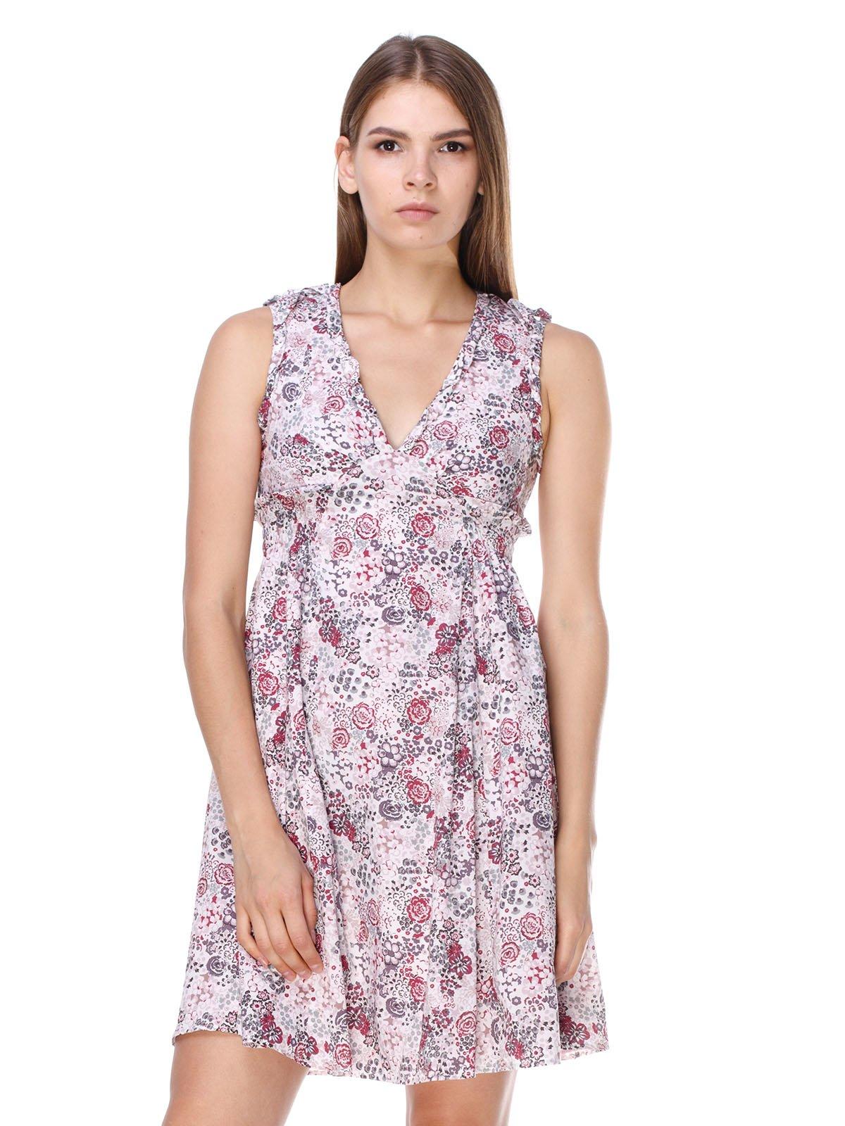 Платье розовое в принт | 2659998