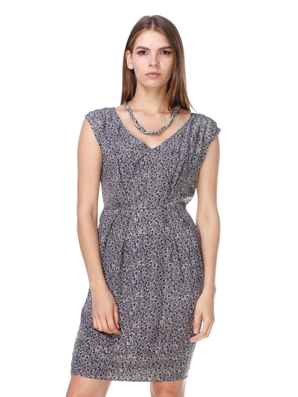 Платье серое в принт   2659982