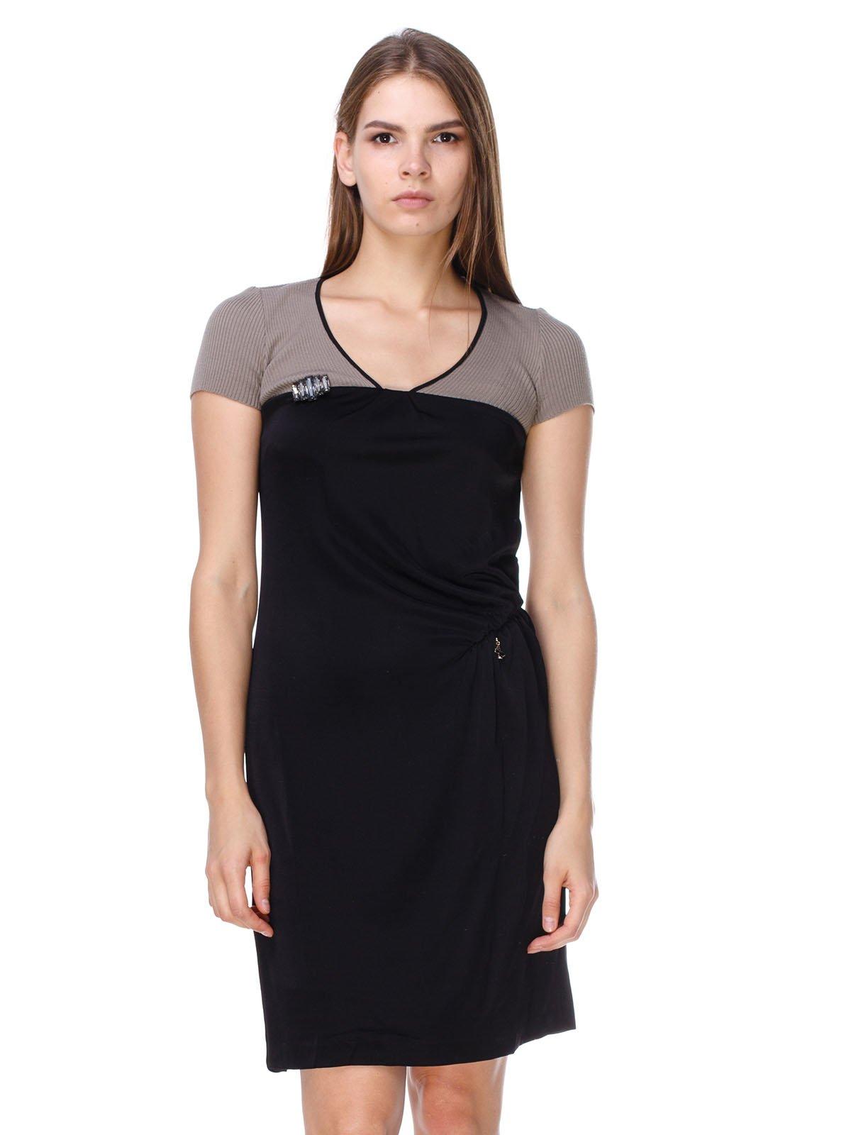 Платье черно-бежевое | 2659907