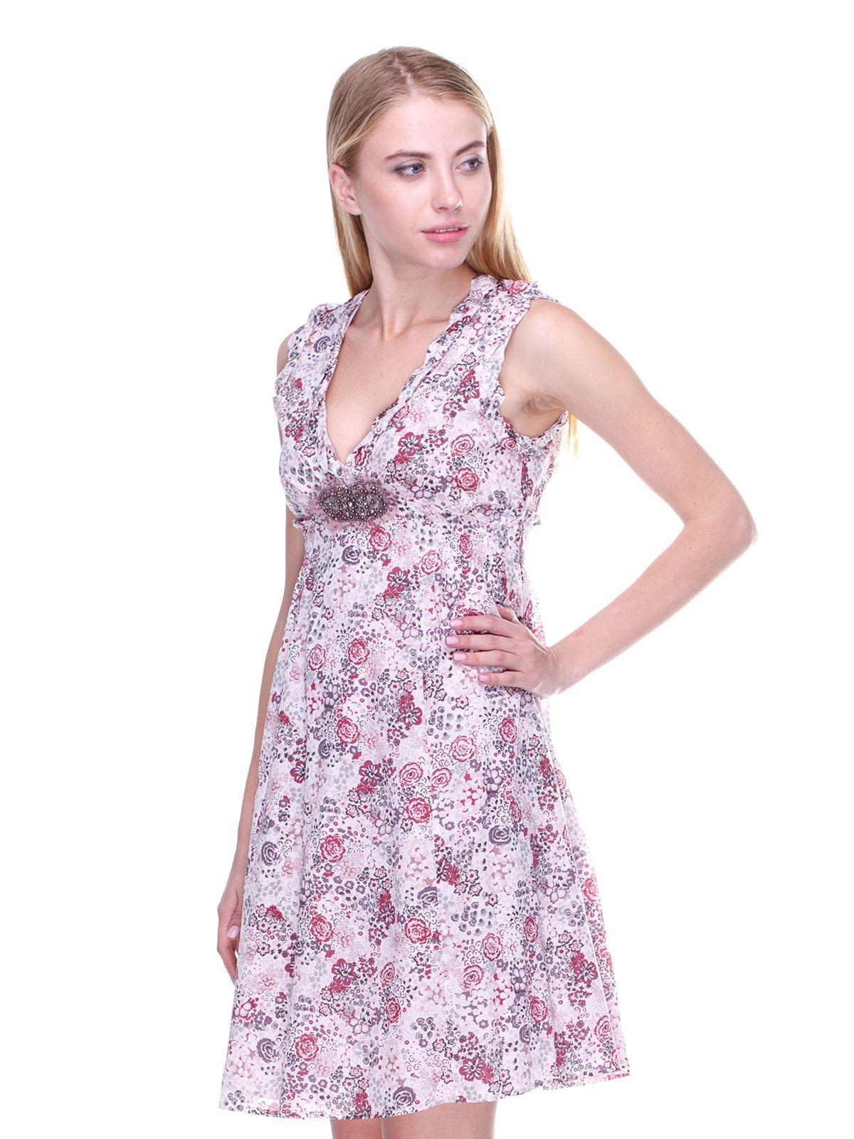 Платье розовое в принт | 2659999