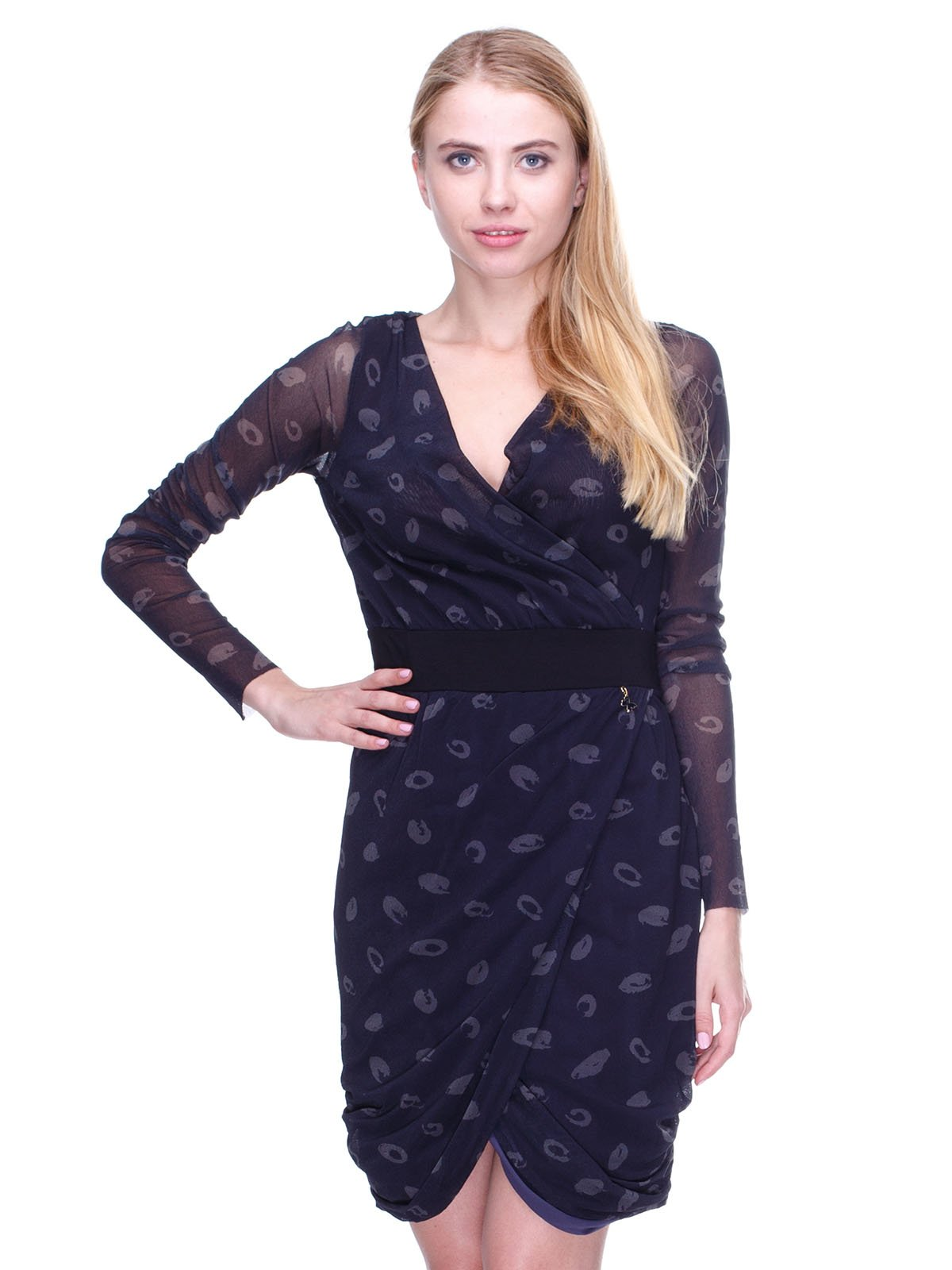 Платье черное в принт | 2659971