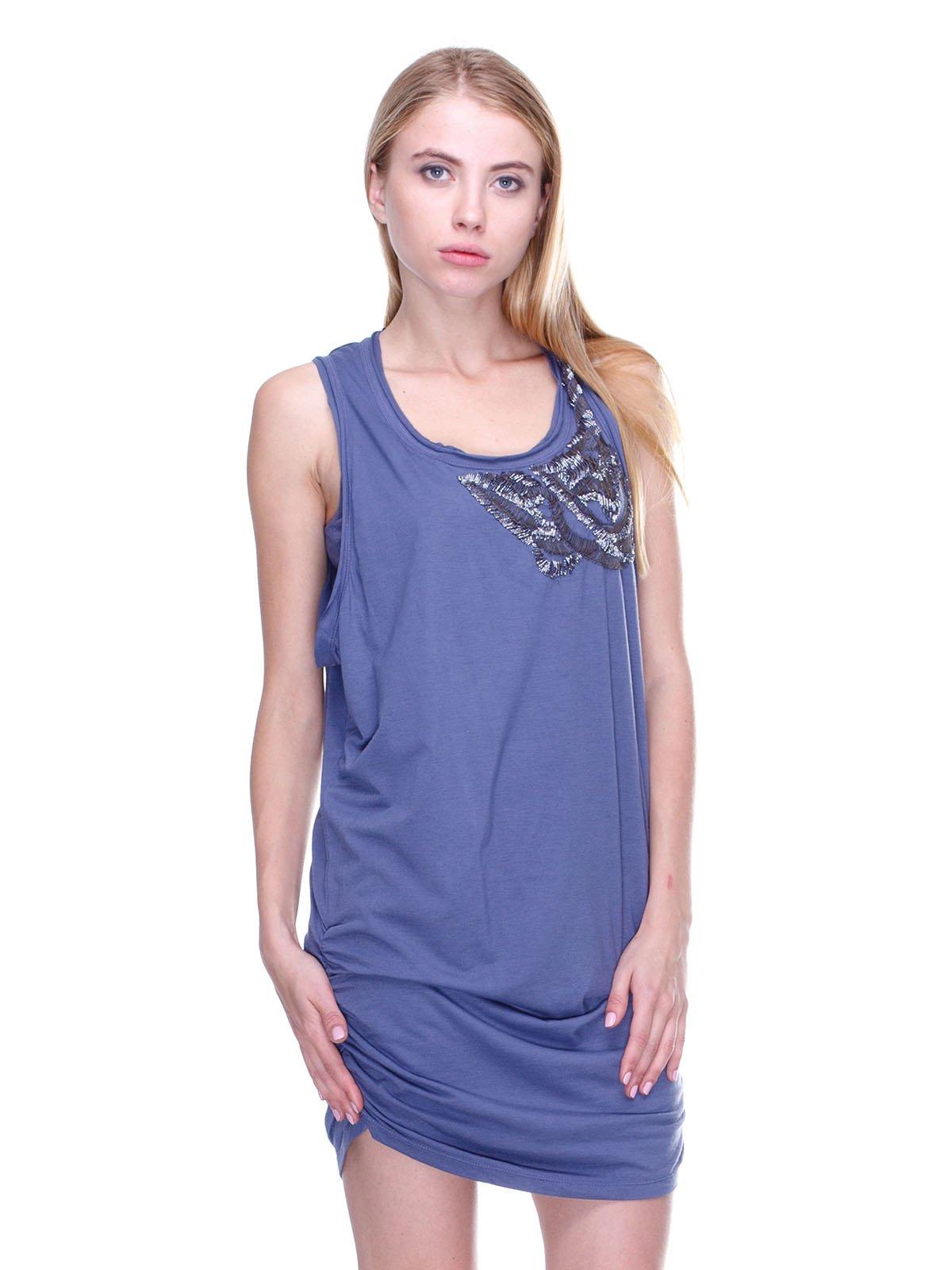 Платье синее с декором   2660032